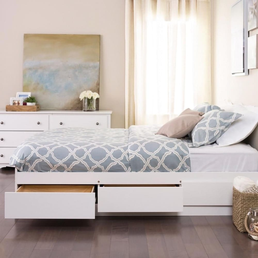 Shop Laurel Creek Vera White Full/Double Platform Storage Bed - Free Shipping Today - Overstock.com - 20882211 & Shop Laurel Creek Vera White Full/Double Platform Storage Bed - Free ...