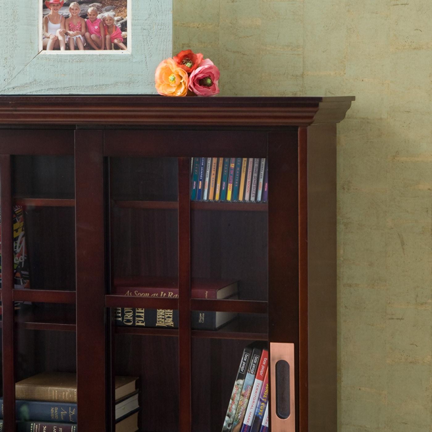 cabinet products vintage door teak danish sideboard mid century media mustard sliding unit