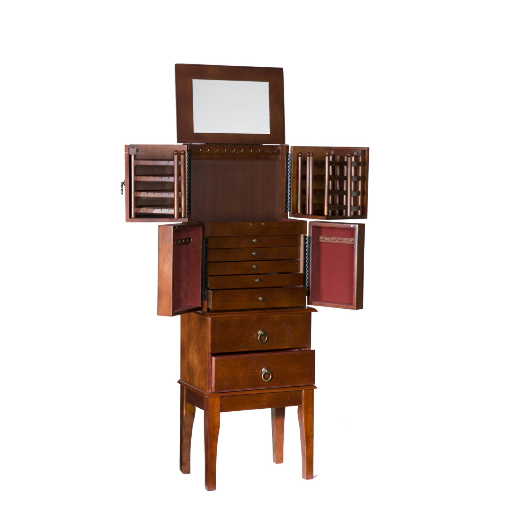 Harper Blvd Cherry Wood Jewelry Armoire Free Shipping Today