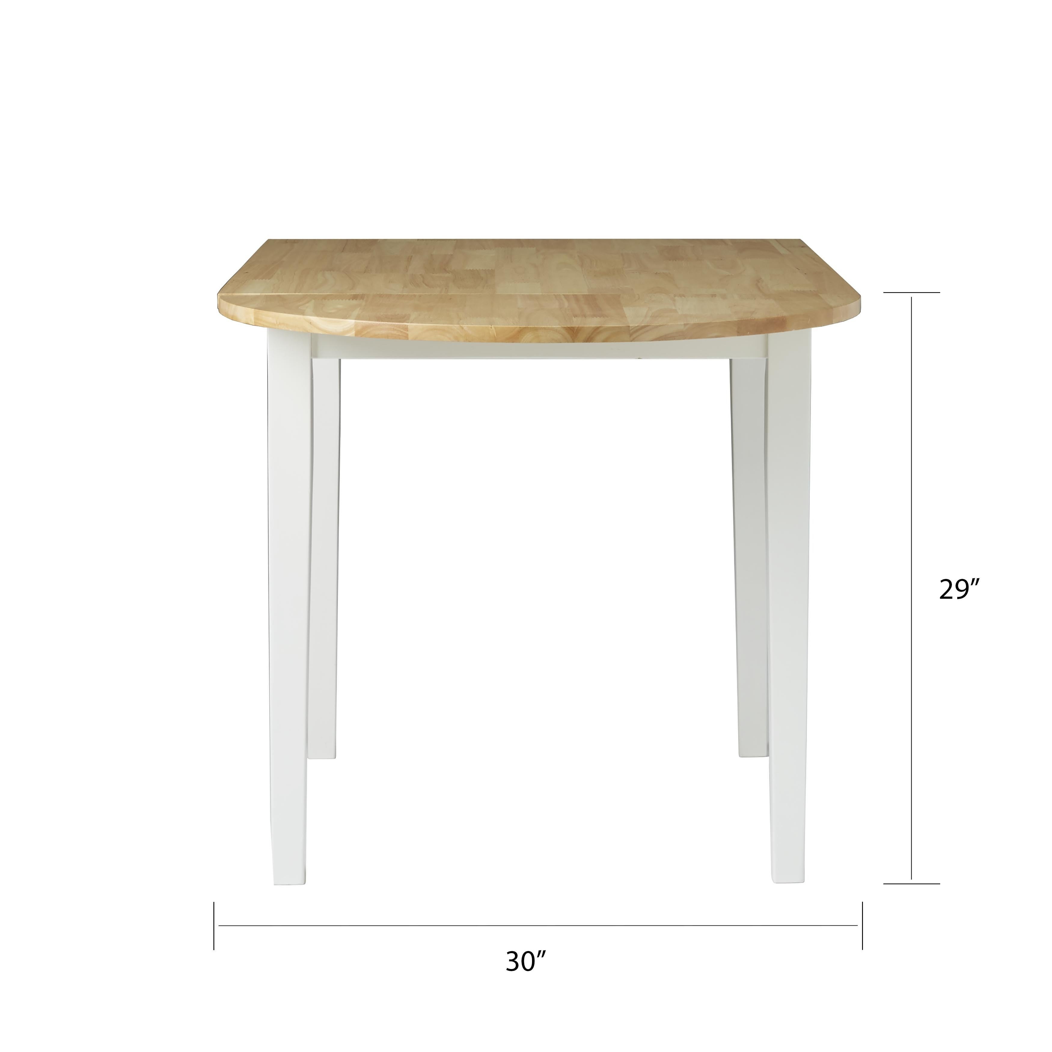 Simple Living Country Cottage Dining Table   Natural, White   Free Shipping  Today   Overstock   10703454