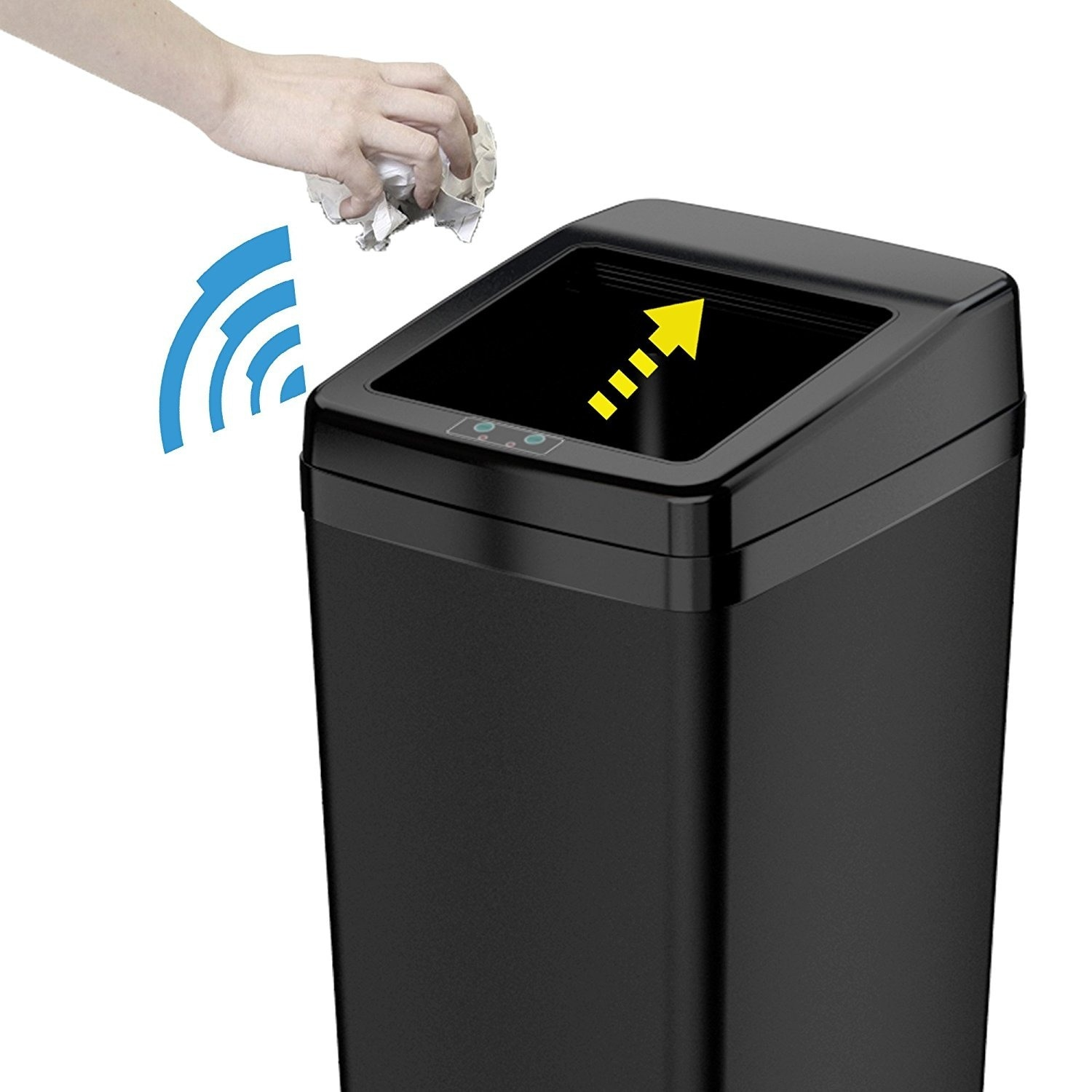 Shop Itouchless Automatic Sensor Sliding Lid Steel Trash Can 14