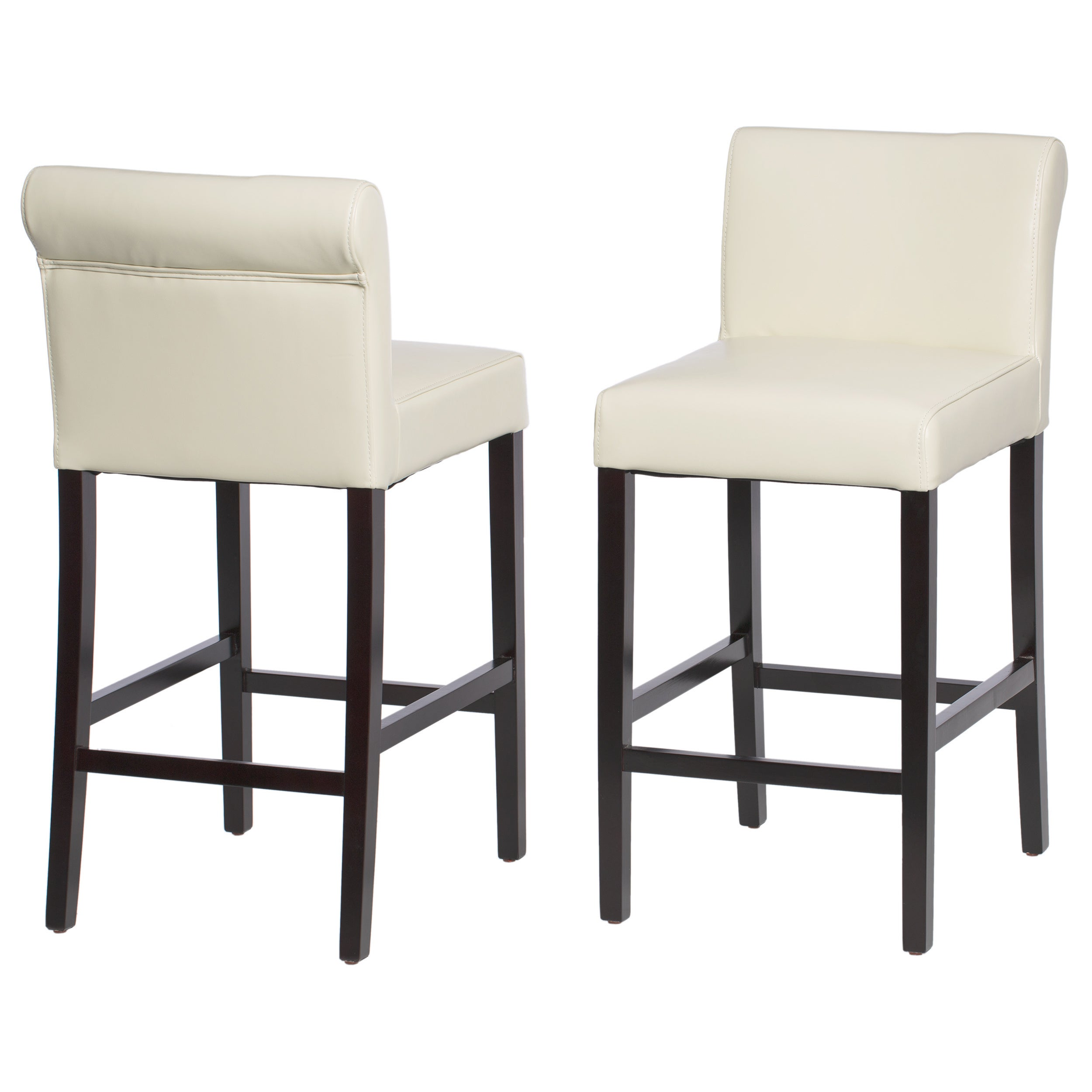 Shop Jasper Laine Cosmopolitan Creme Leather Counter Stools (Set Of 2)    Free Shipping Today   Overstock.com   2502523