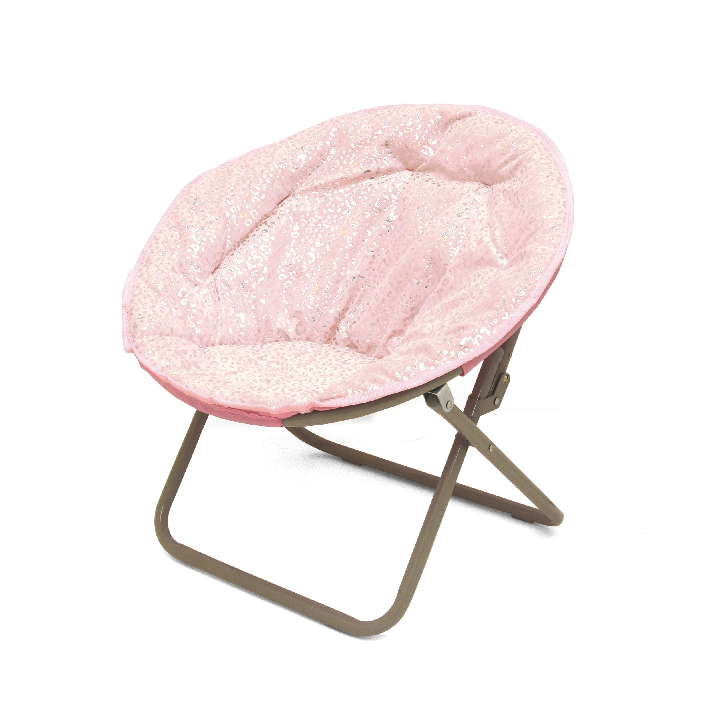 Shop Faux Fur Foil Cheetah Kids Saucer Chair - Free Shipping Today - Overstock - 25071023  sc 1 st  Overstock.com & Shop Faux Fur Foil Cheetah Kids Saucer Chair - Free Shipping Today ...