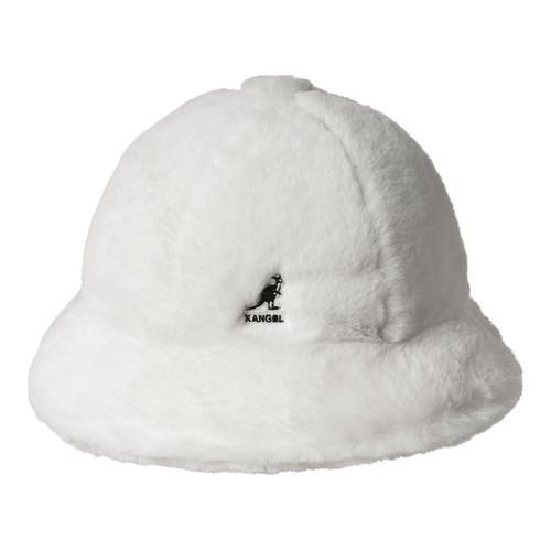 3eb7edfba Kangol Faux Fur Casual Bucket Hat Cream