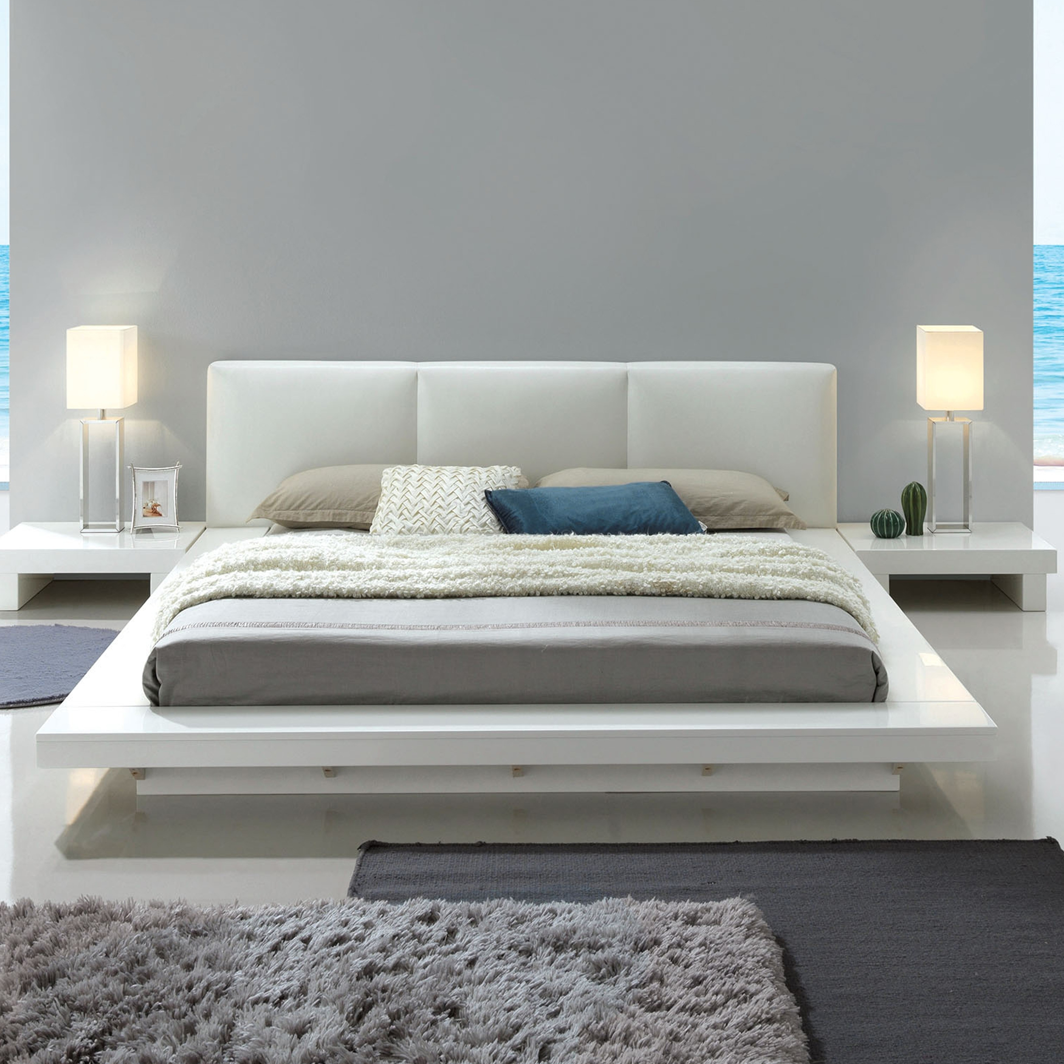Furniture Of America Phoenix Low Profile Upholstered Headboard Bed Free Shipping Today 25324454