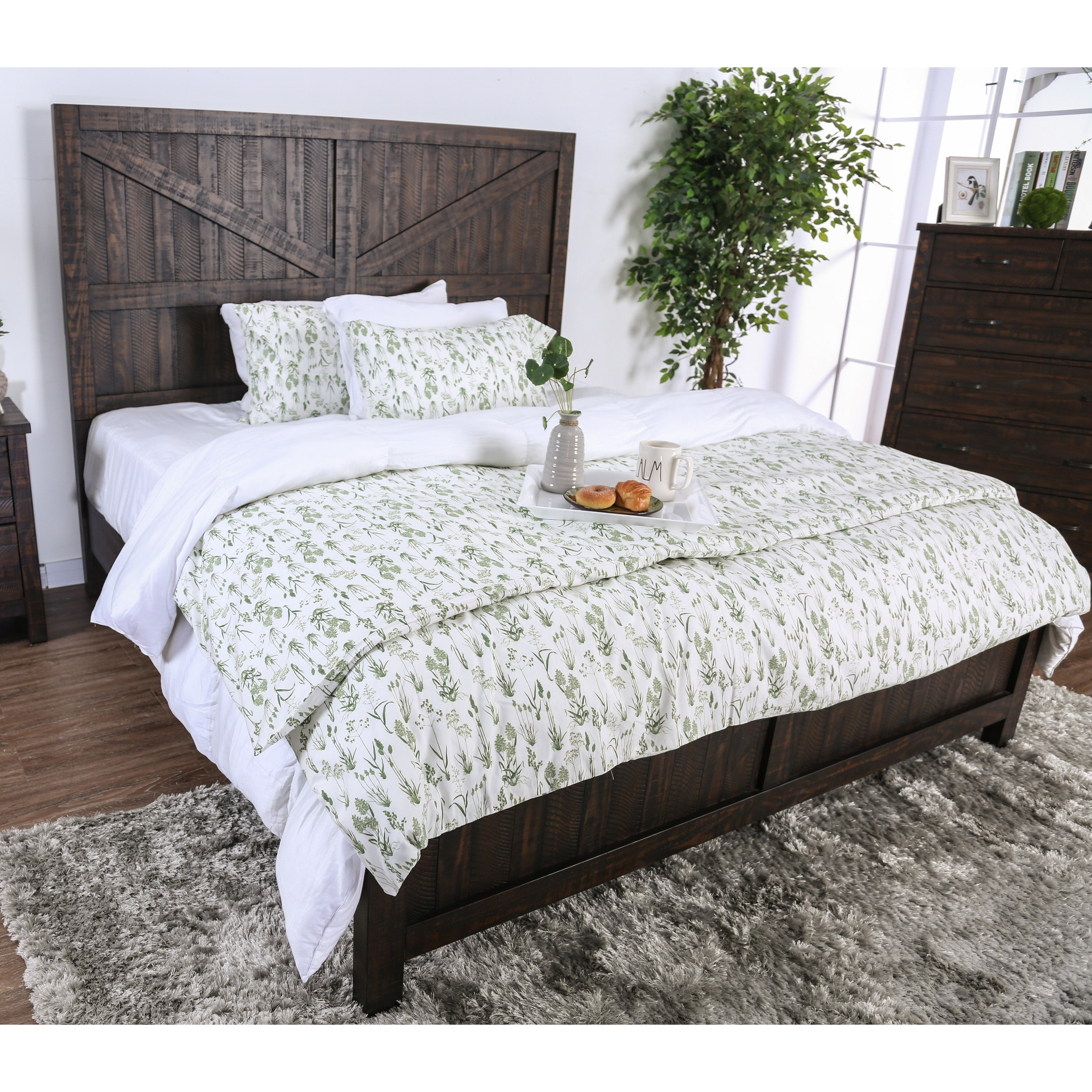 Shop Furniture Of America Willow Rustic Farmhouse Barn Door Bed On