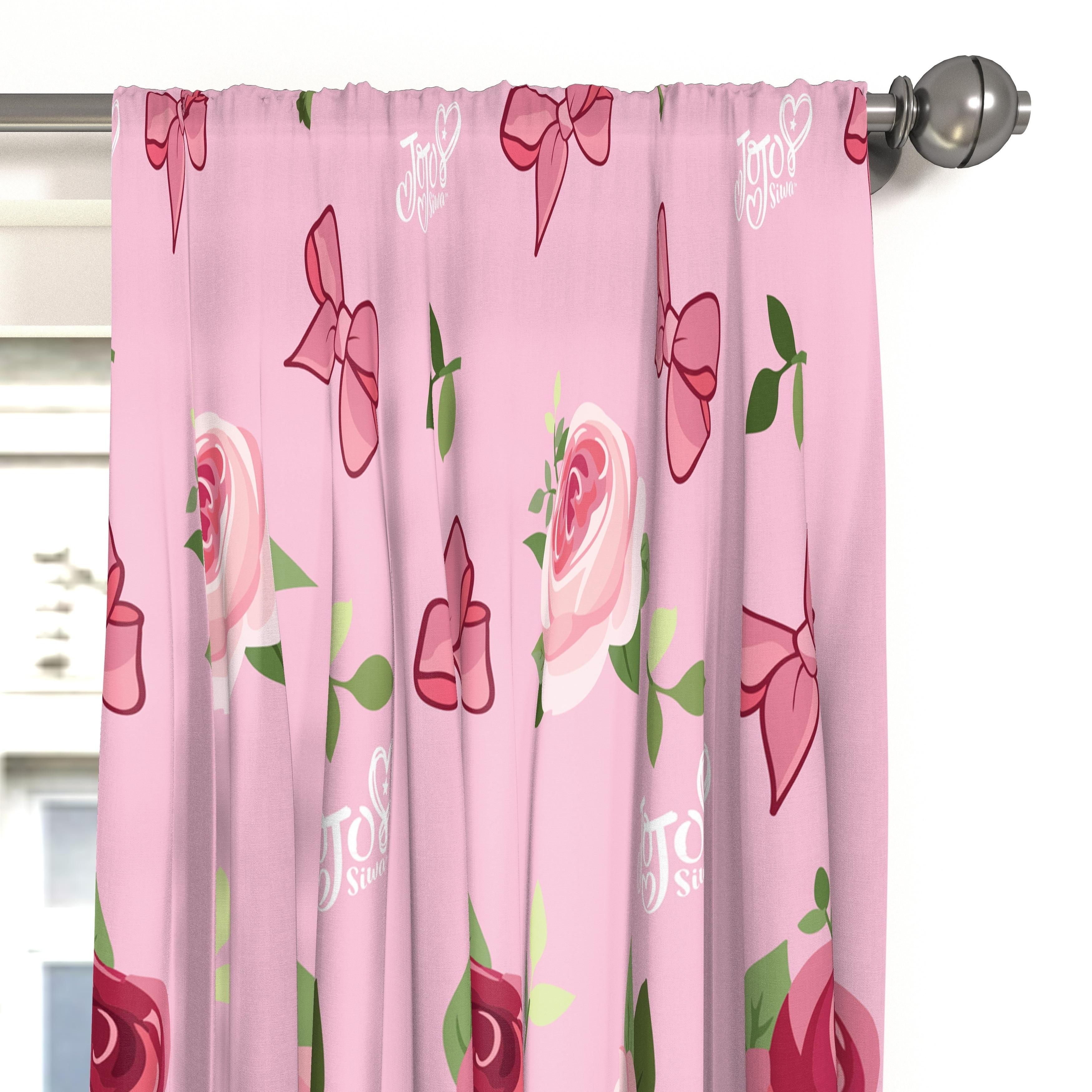Shop Nickelodeon Jojo Siwa Roses And Bows 63 Decorative Curtain Set