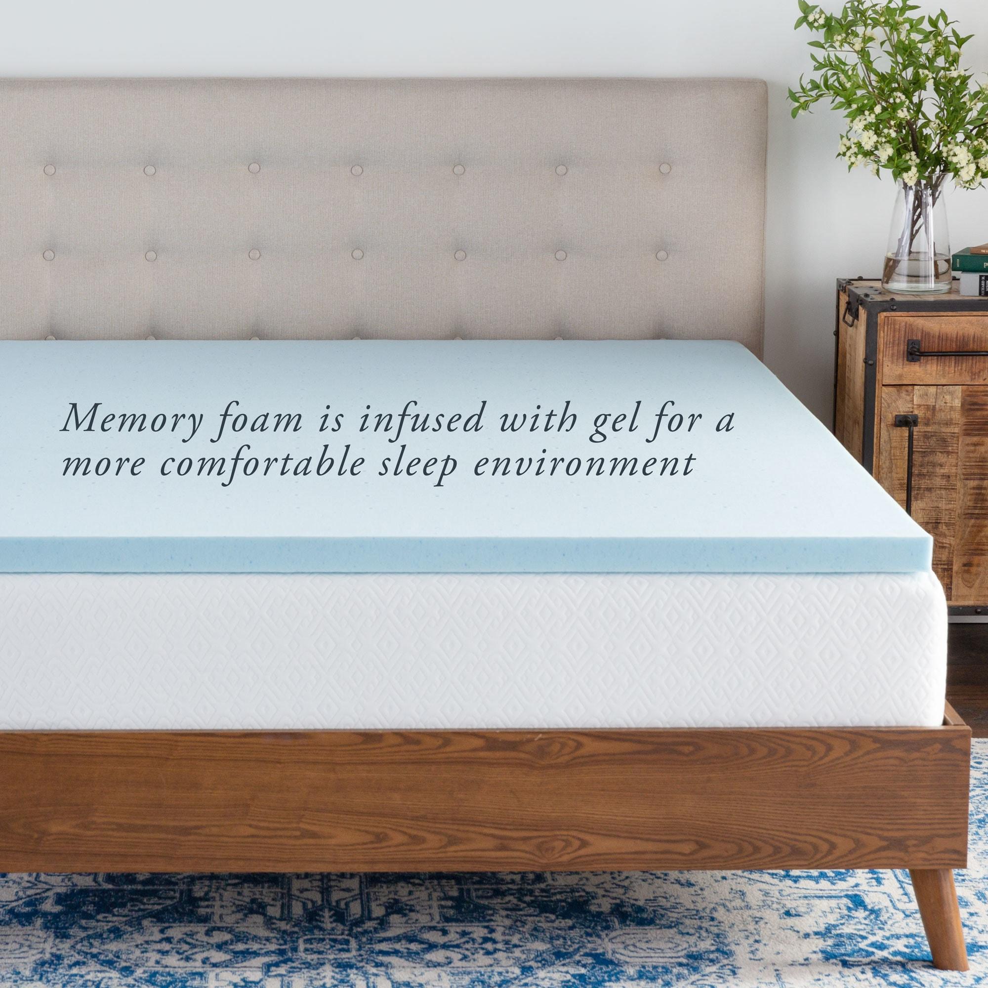 Shop Brookside Pillow Top And 2 Inch Gel Memory Foam Mattress Topper