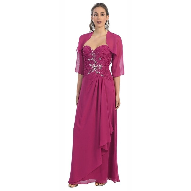 Magenta Mother of Bride Dress