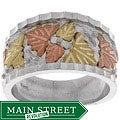 Black Hills Gold and Sterling Silver Mens Ring
