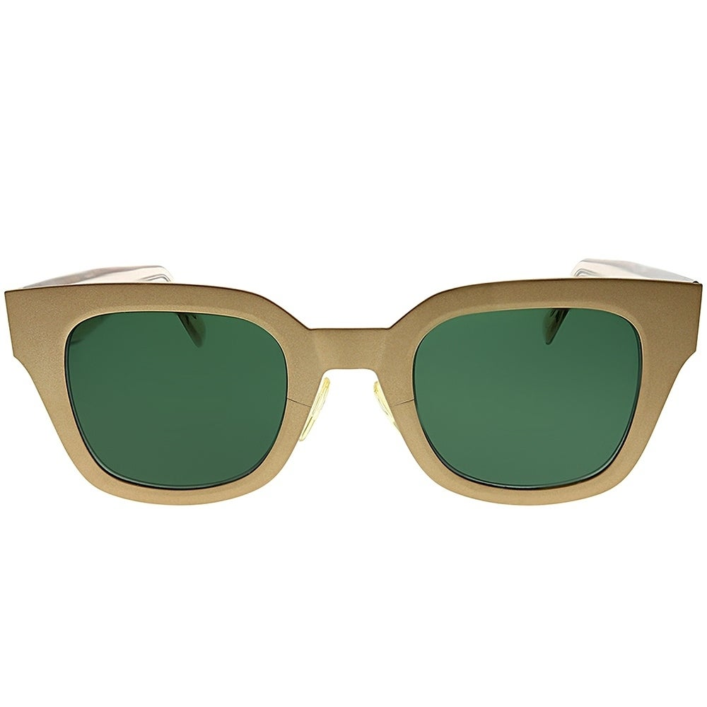 ceddcd89b2c6 Shop Celine Square CL 41451 DDB Women Gold Copper Frame Green Lens  Sunglasses - Free Shipping Today - Overstock - 25413318