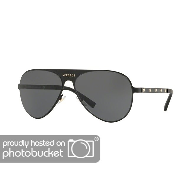 5ccb94842fc Shop Versace VE2189 Unisex Matte Black Frame Grey Lens Sunglasses - Free  Shipping Today - Overstock - 25416264