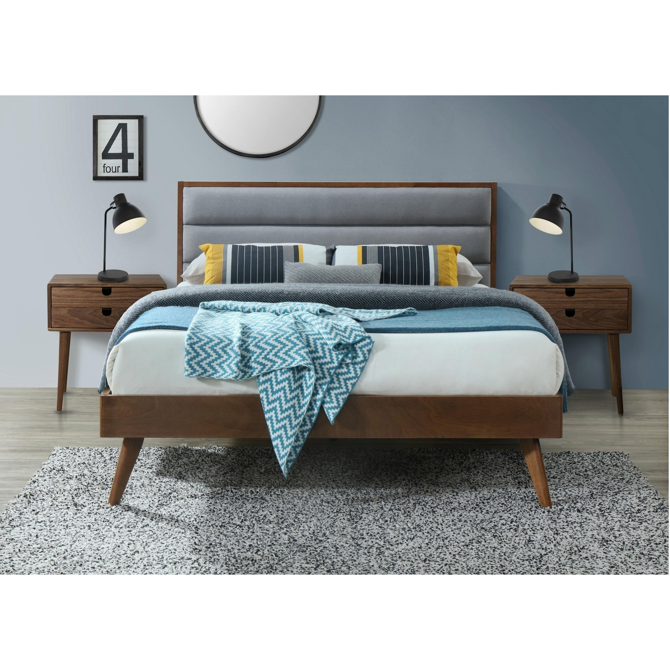 Orlando Queen Mid Century Platform Bed On Free Shipping Today 25418288