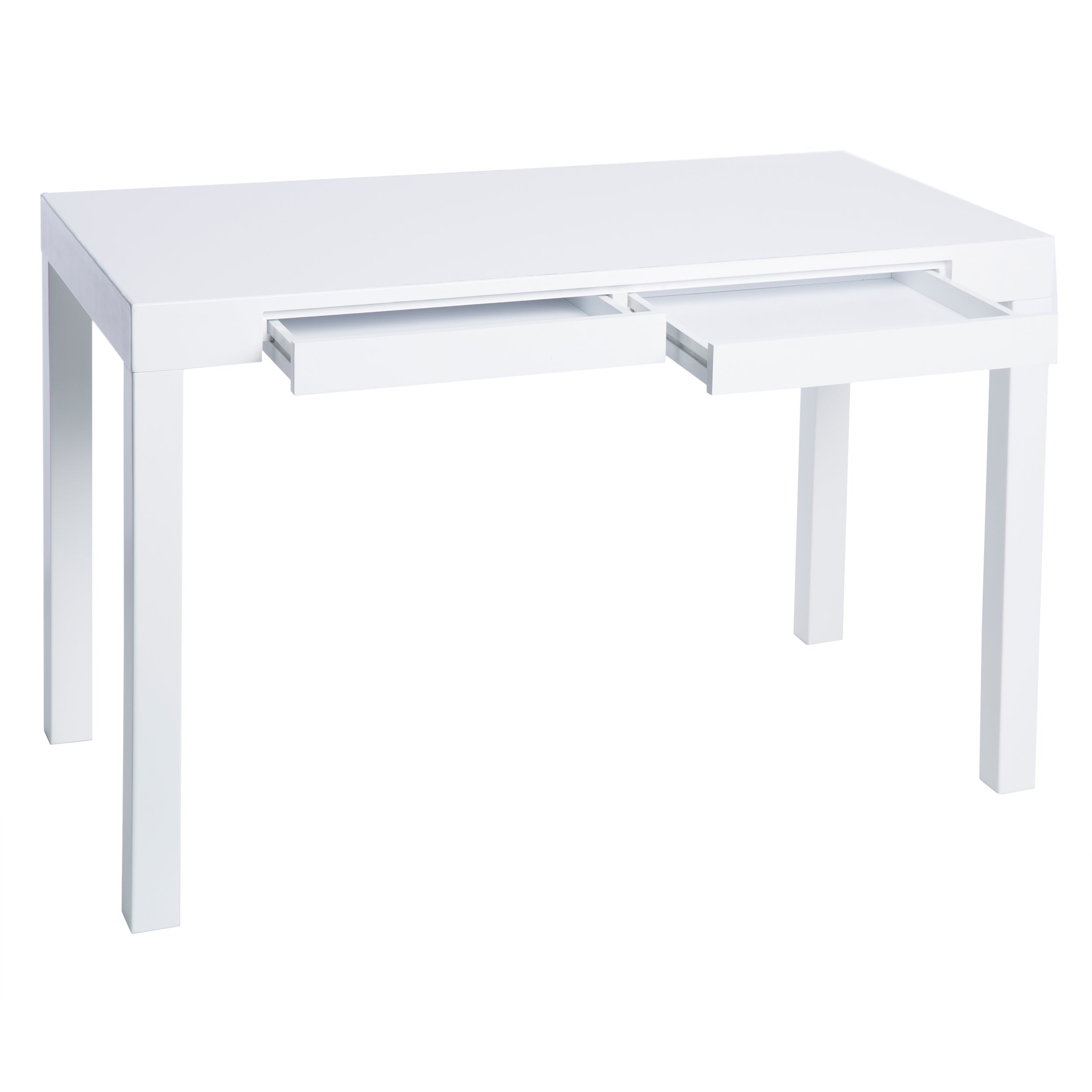Shop Clay Alder Home Contemporary 2 Drawer Student Desk In White   Free  Shipping Today   Overstock.com   2542757