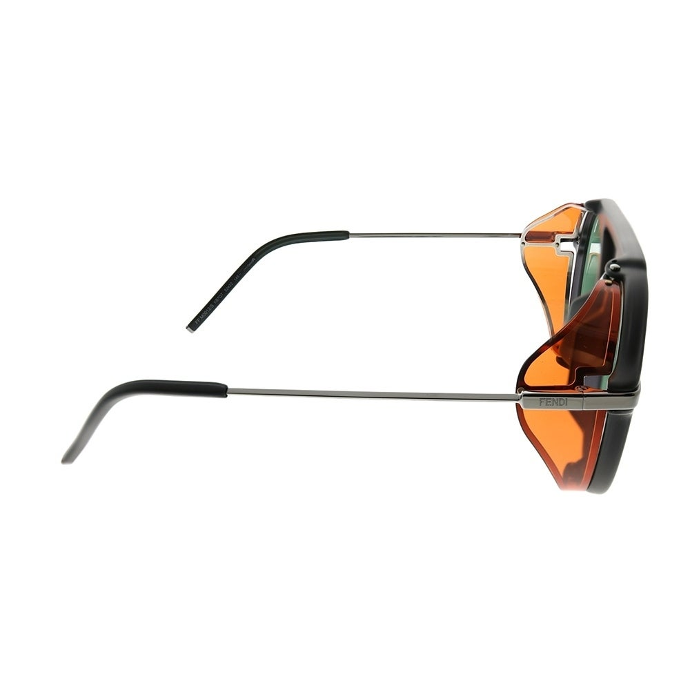 b28509d0ef81 Shop Fendi Men Round FF M0012 Fendi Fantastic KB7 Unisex Grey Frame Green  Lens Sunglasses - Free Shipping Today - Overstock - 25433064
