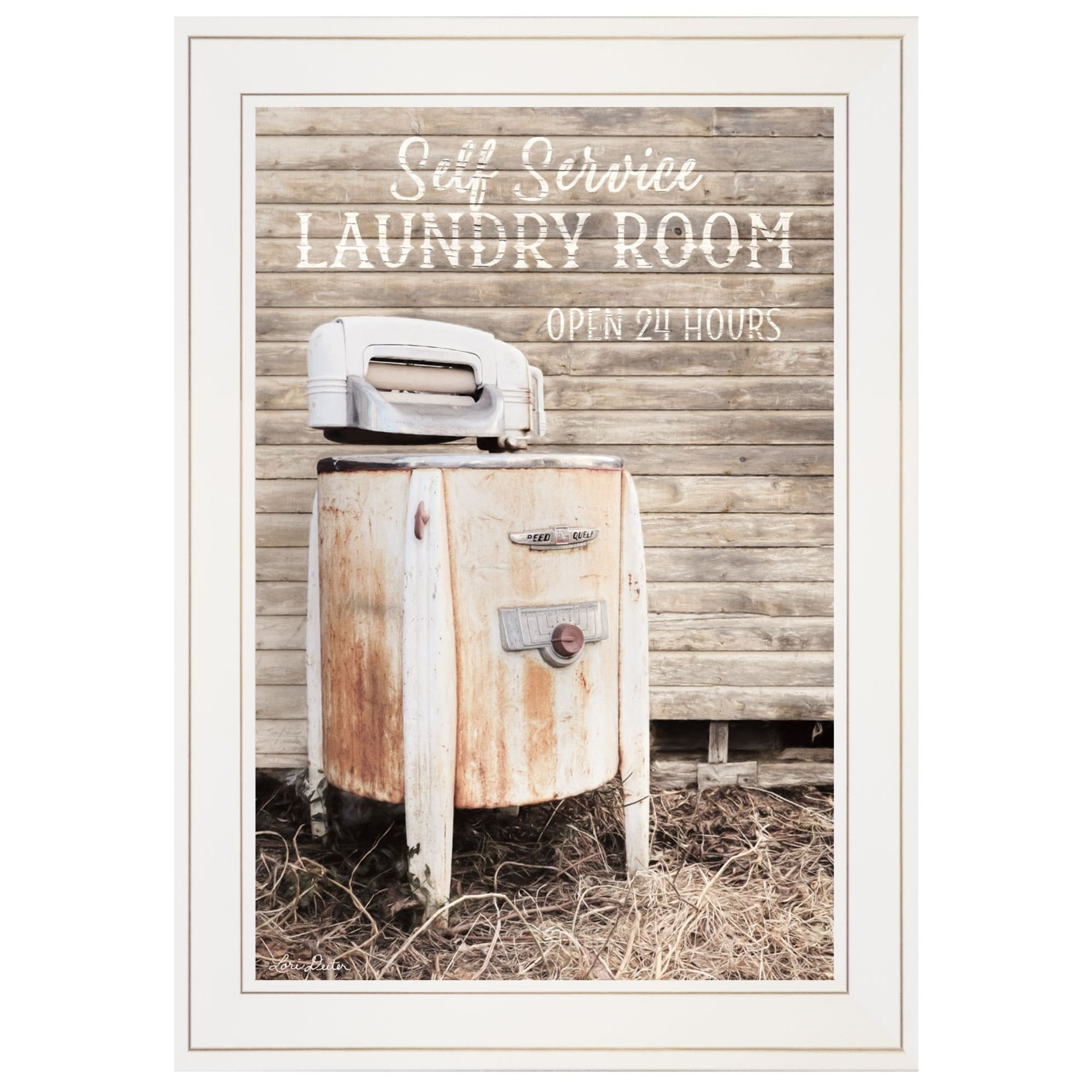 Laundry Room By Lori Deiter Ready To Hang Framed Print White Frame On Free Shipping Today 25434037