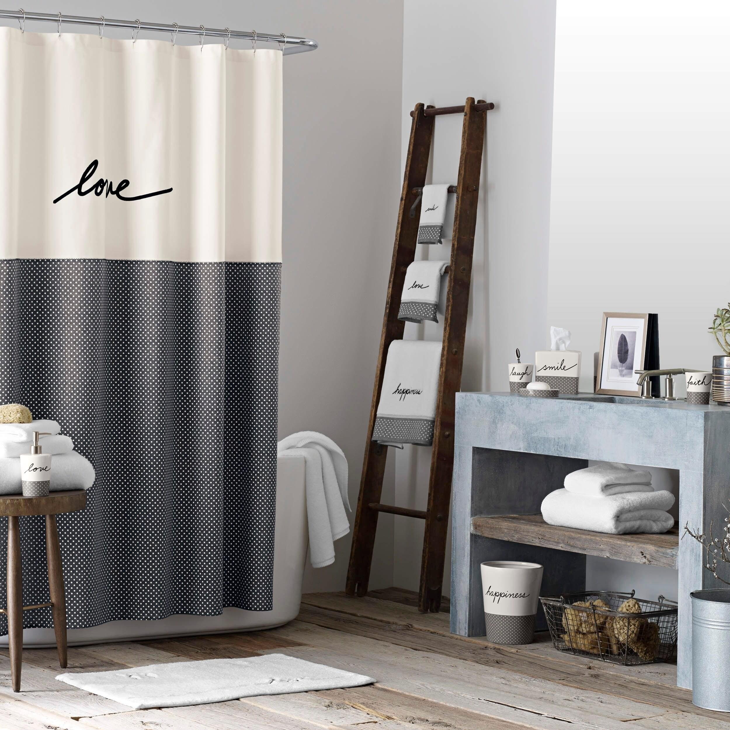 Shop Ellen DeGeneres Love Shower Curtain