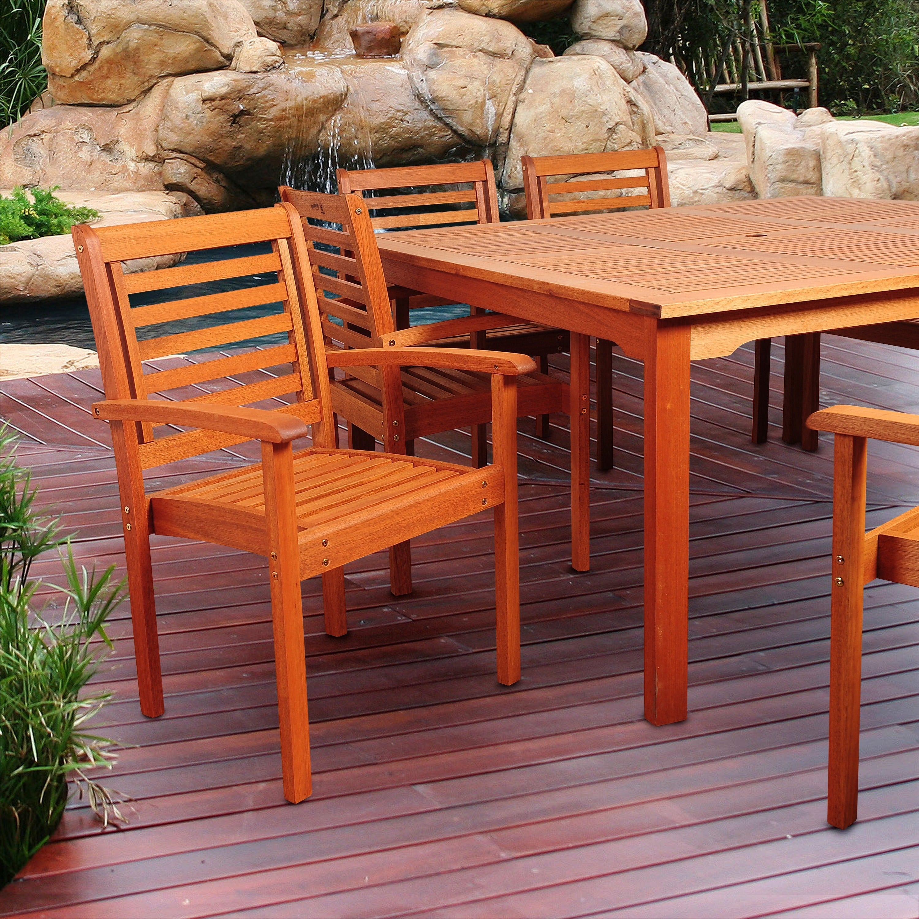 bay great poly set patio dining amish made piece