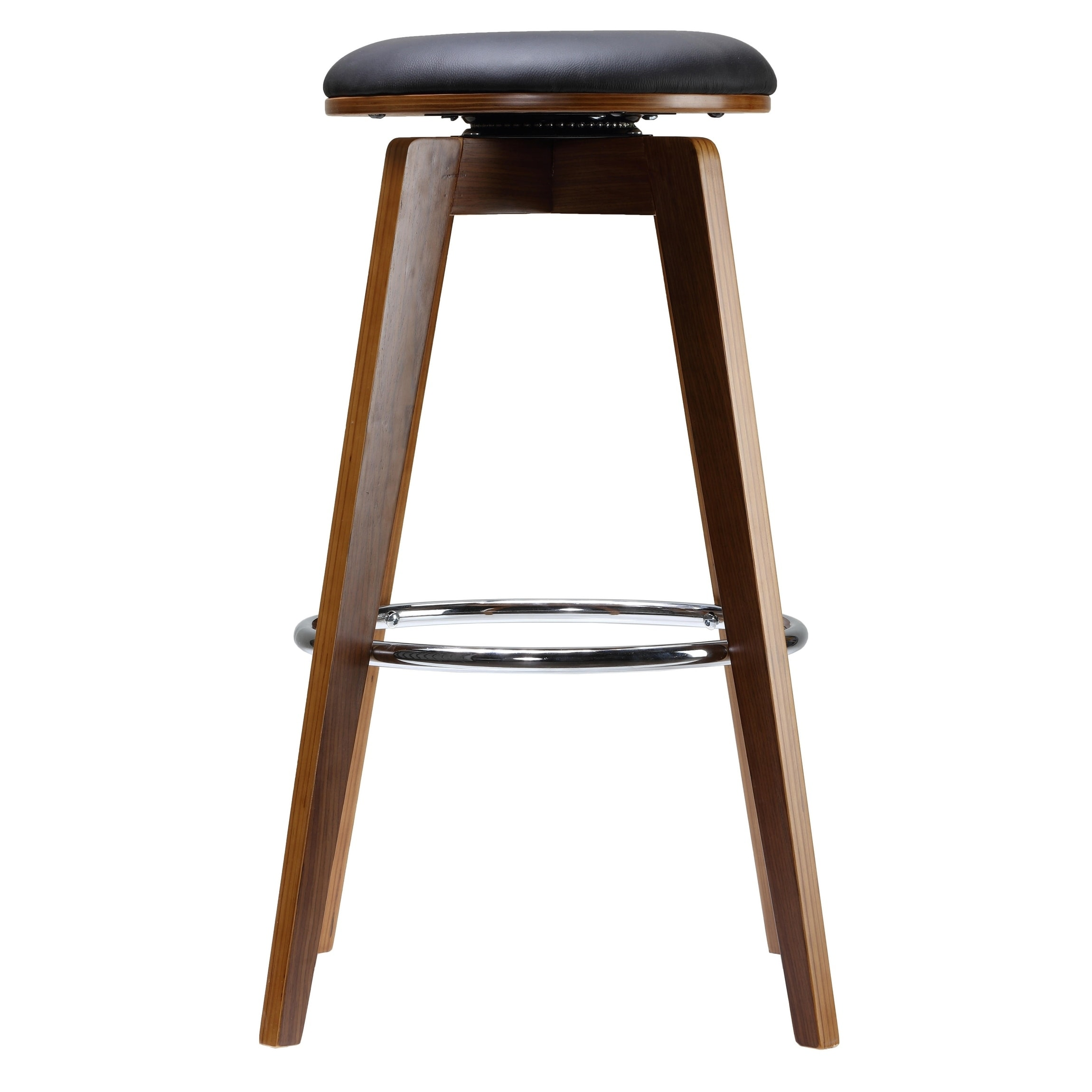 40427be488b Shop Cortesi Home Draven Barstool with Swivel Seat in Genuine Top Grain  Black Leather (Set of 2)