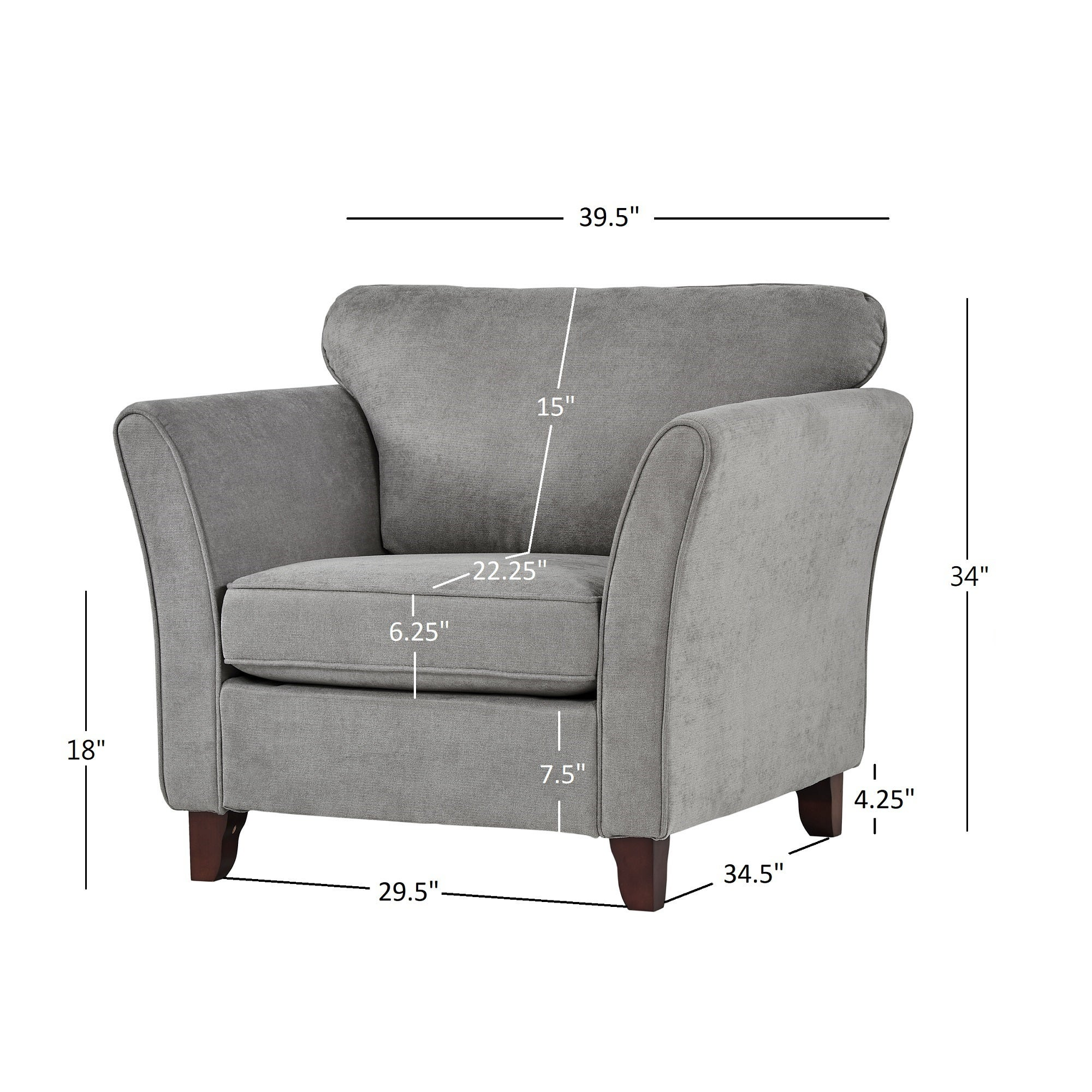 Shop gia low profile living room chair by inspire q classic on sale free shipping today overstock 25444157
