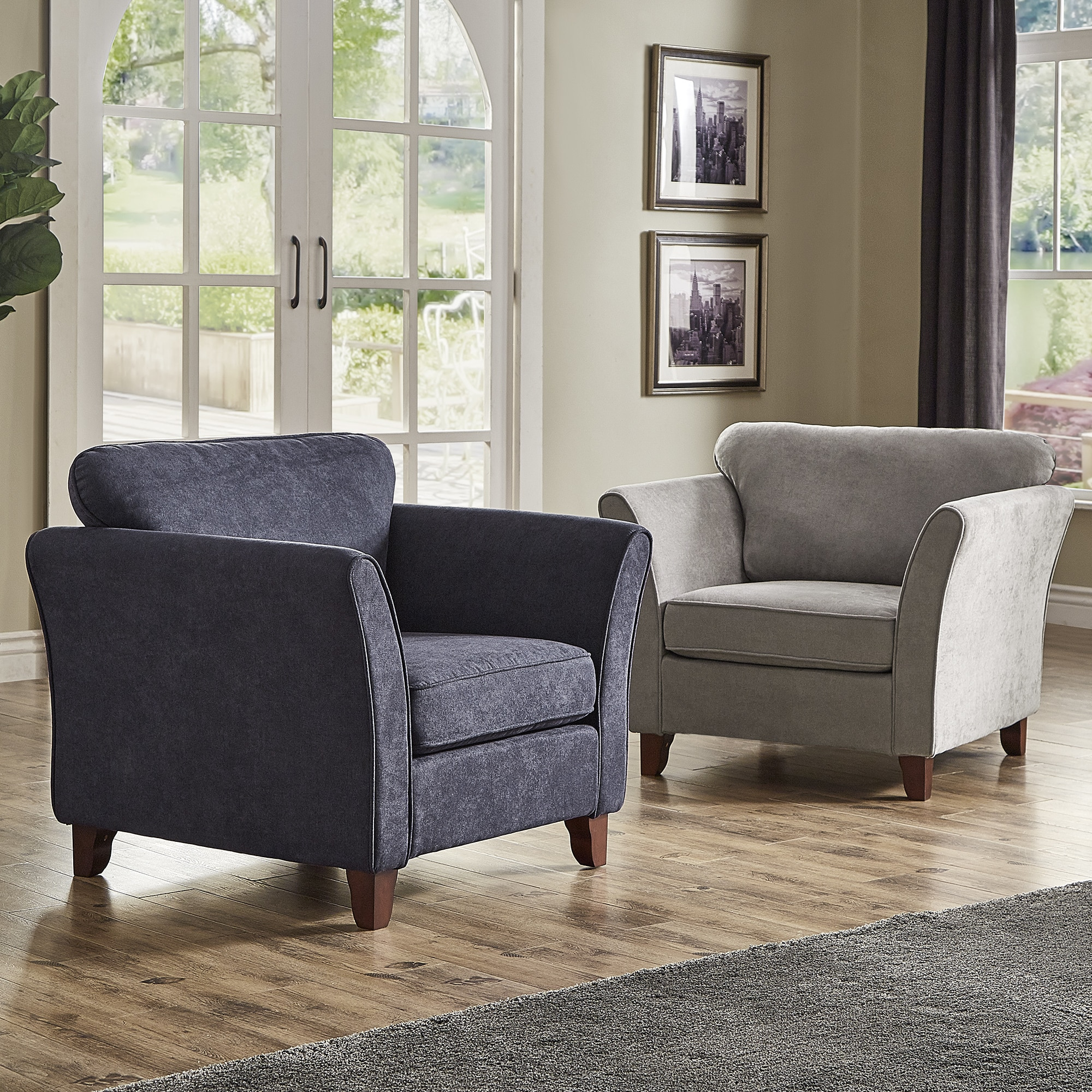 Gia low profile living room chair by inspire q classic
