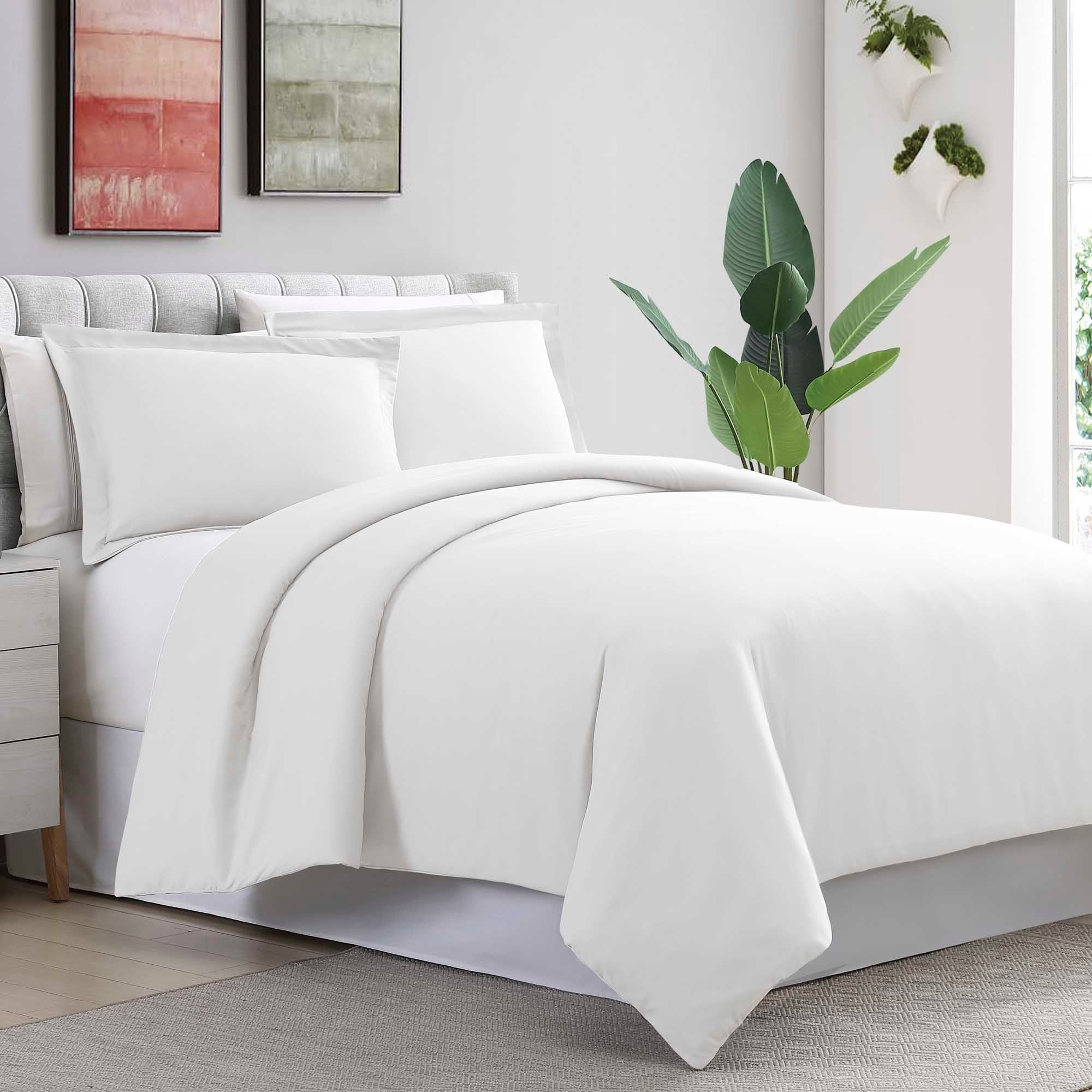 f2eb6b38b20f Shop Amrapur Overseas Ultra-Plush 3-Piece Solid Duvet Set - On Sale - Free  Shipping On Orders Over  45 - Overstock - 25444427