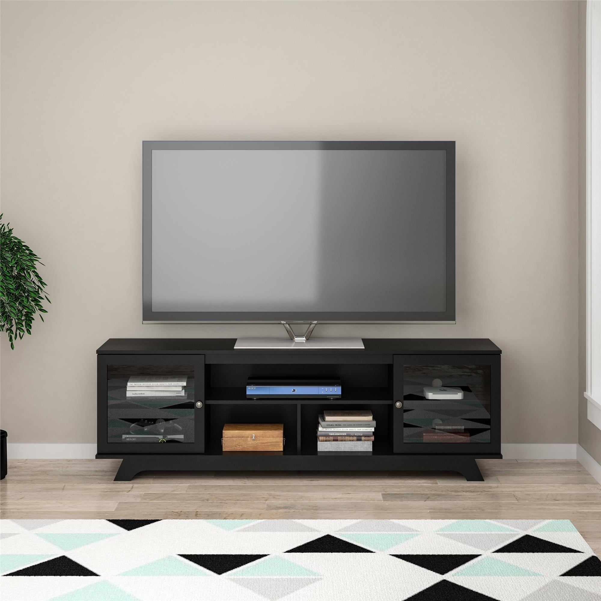 Shop avenue greene ehrhart tv stand for tvs up to 80 free shipping today overstock com 25447006