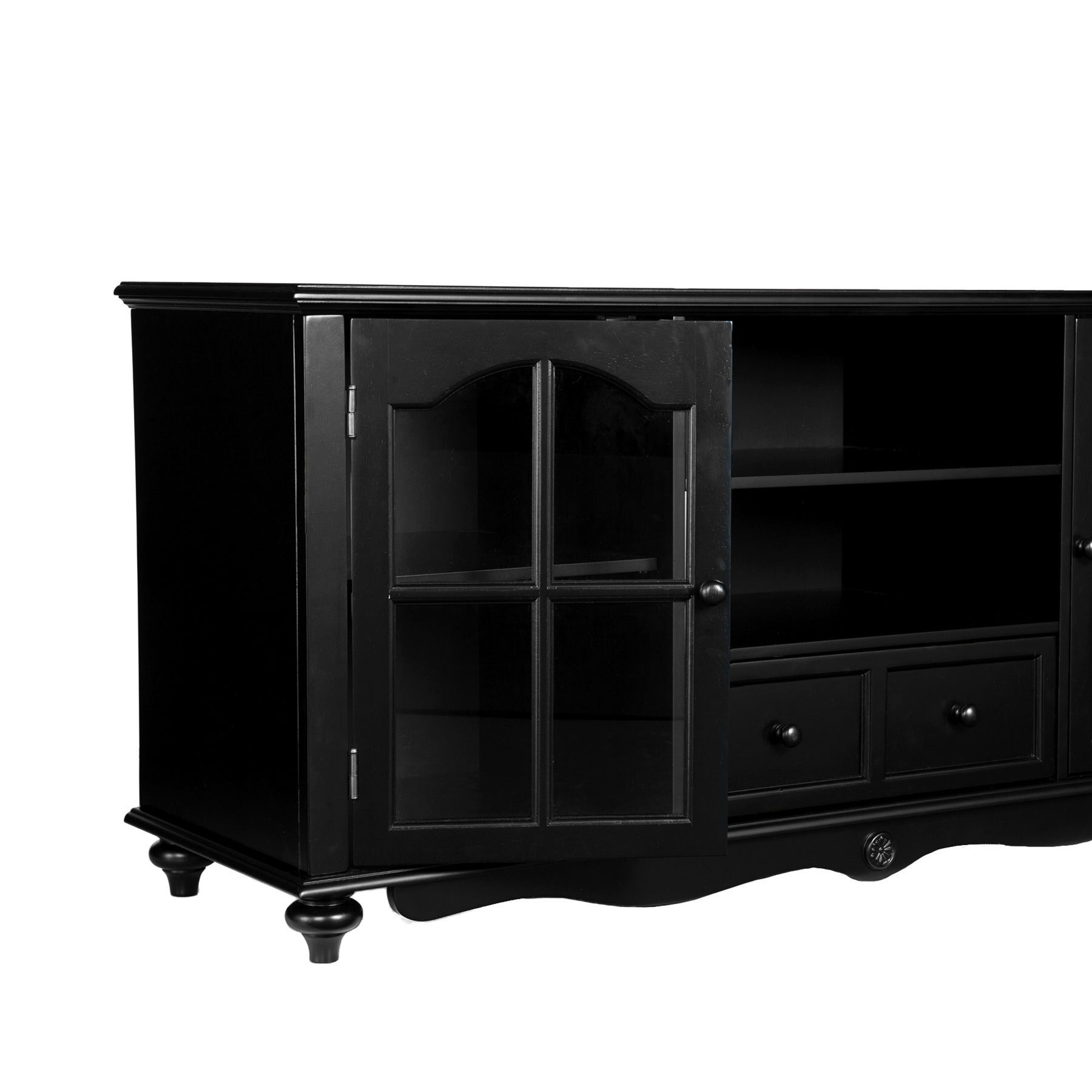 Perfect Harper Blvd Hanover Black TV Console   Free Shipping Today   Overstock    10766123