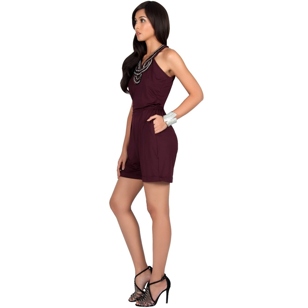 be1167c74543 Shop KOH KOH Womens Sleeveless Beach Summer Sexy Cute Short Romper Jumpsuit  - Free Shipping Today - Overstock - 25455191