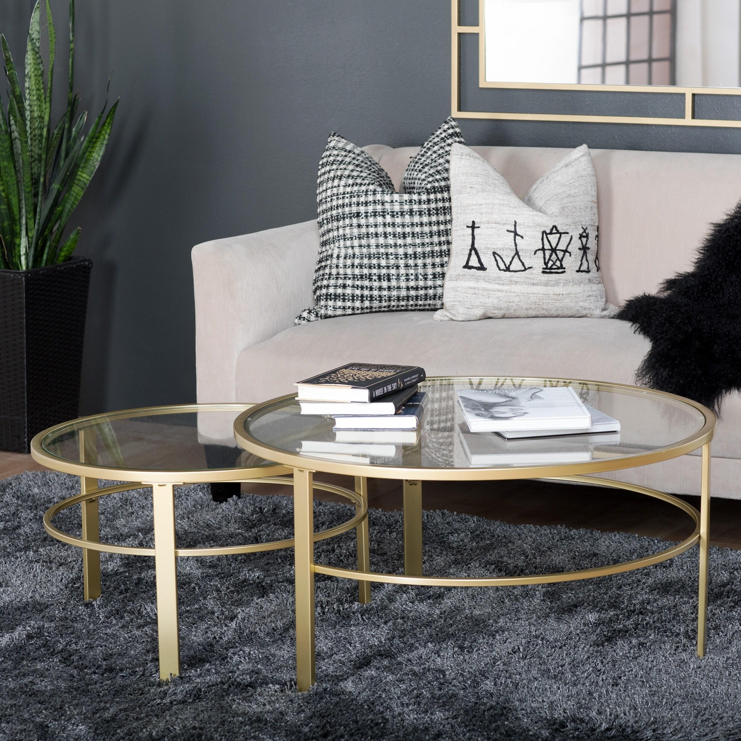Studio Designs Home Corbel Modern Round Nesting Coffee Table Set