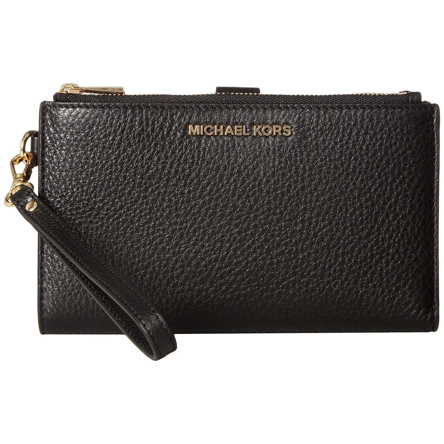 d9ecdbbf672b Shop MICHAEL Michael Kors Adele Double Zip iPhone 7 Plus Wristlet Black -  Free Shipping Today - Overstock - 25463849