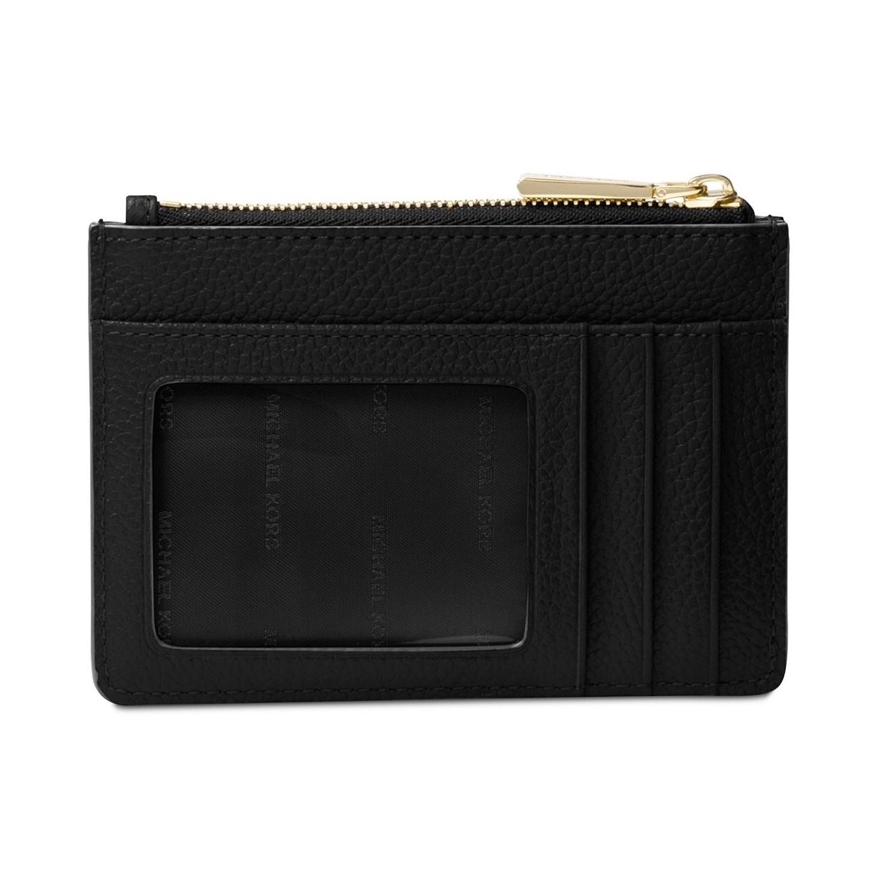 82f85c08d91d Shop MICHAEL Michael Kors Mercer Small Coin Purse Black - Free Shipping  Today - Overstock - 25463858
