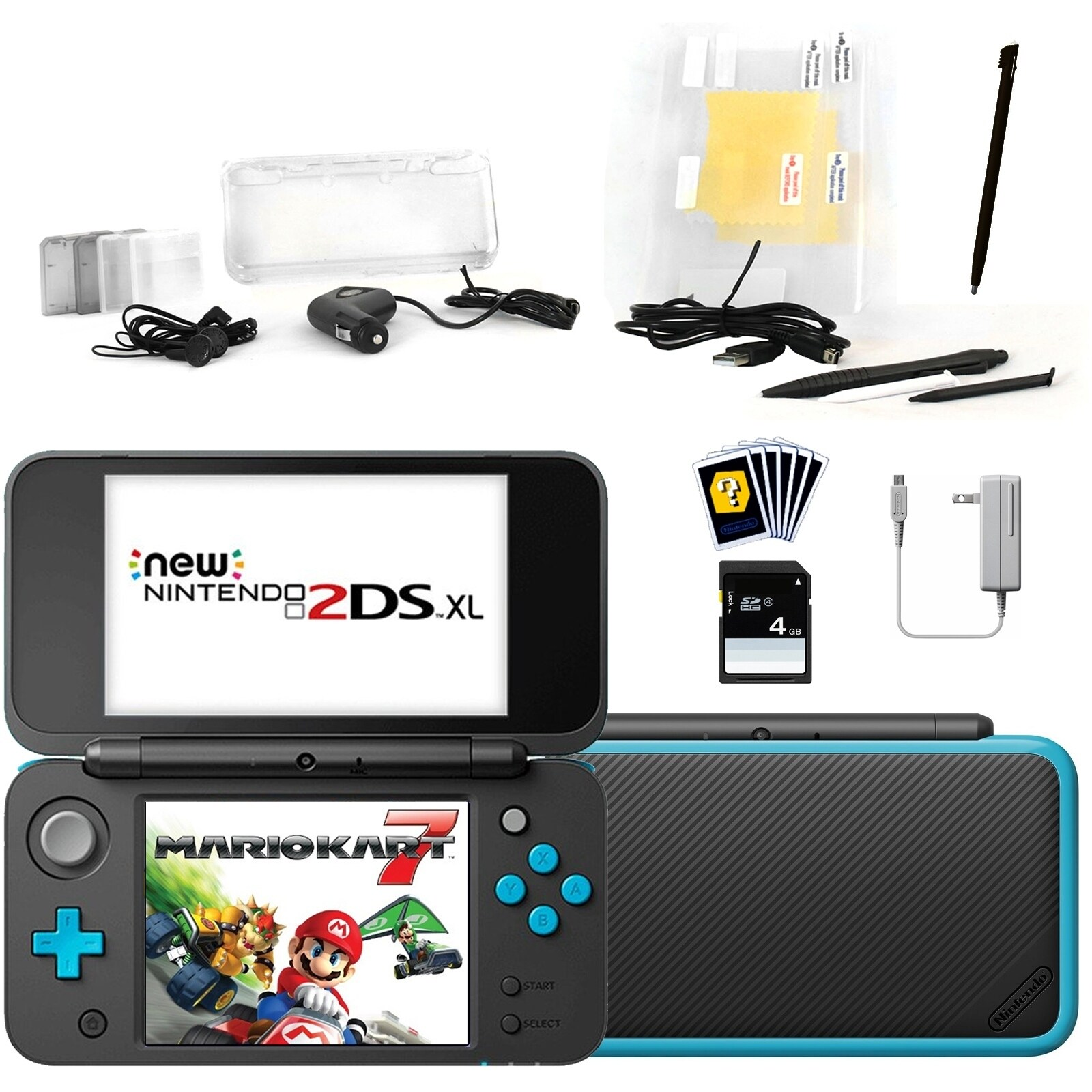 Shop New Nintendo 2DSXL with Mario Kart 7 in Black with Accessories Kit -  Free Shipping Today - Overstock.com - 25481661