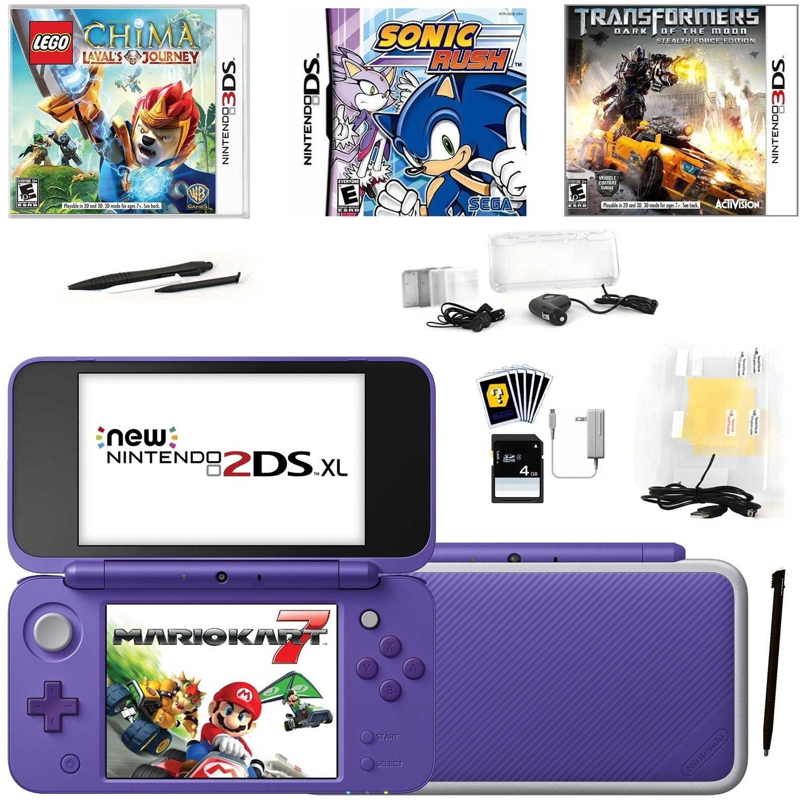 Shop New Nintendo 2DSXL with Mario Kart 7 in Purple with Games and Access.  - Free Shipping Today - Overstock.com - 25481667