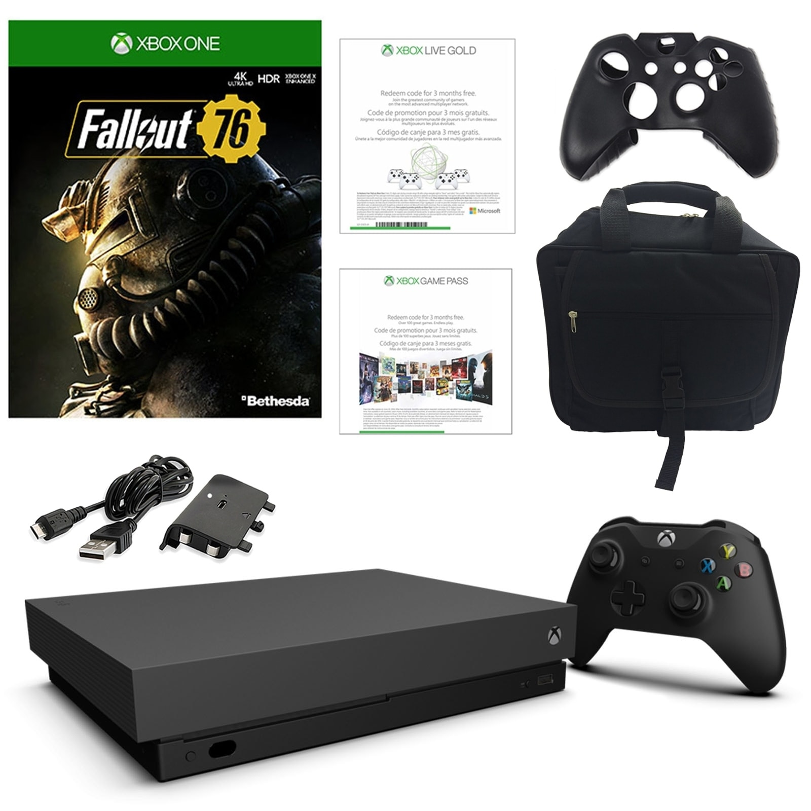 Xbox One X 1TB Fallout 76 Console with Console Bag and Accessories