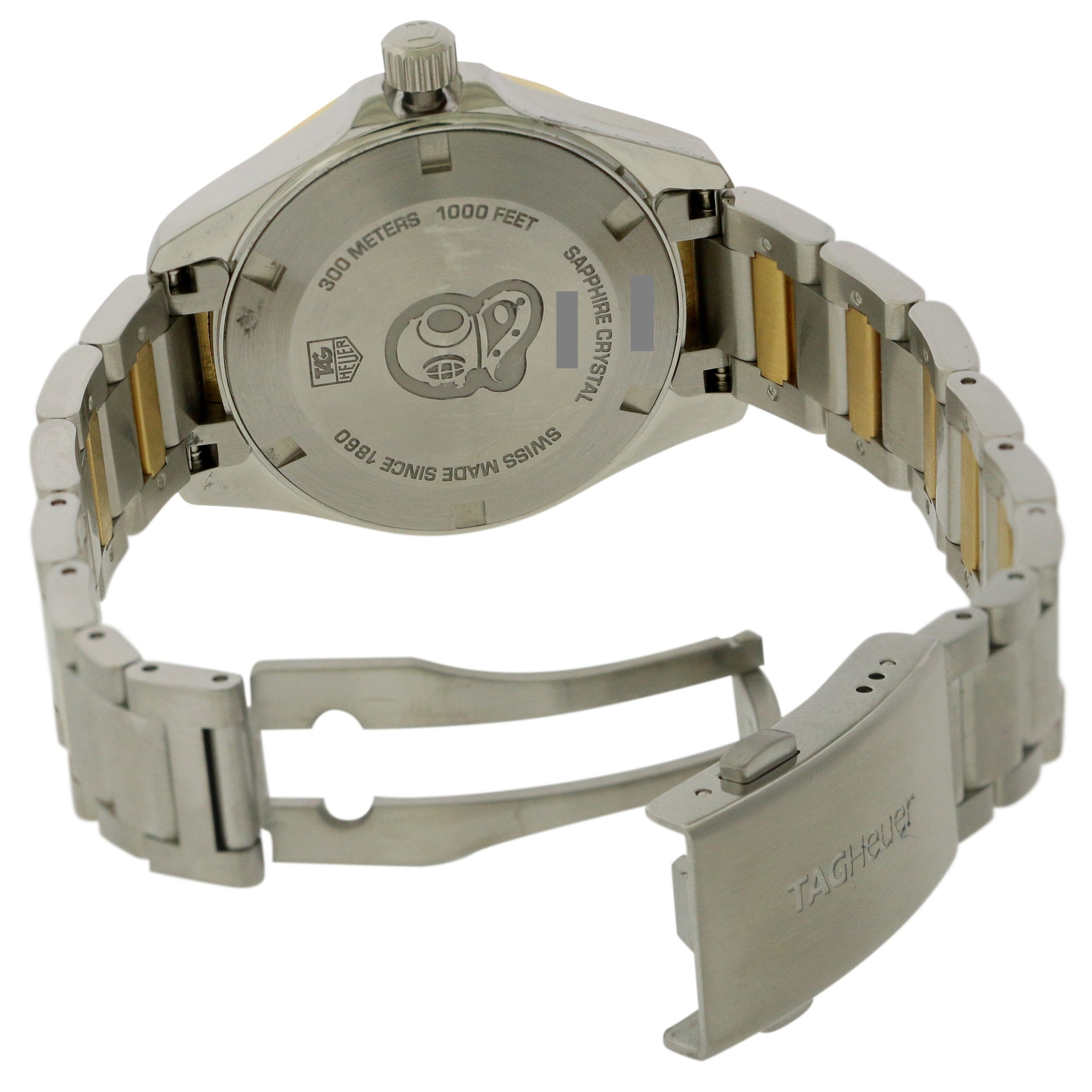 55def55fcec91 Shop Tag Heuer Aquaracer Two-Tone Ladies Watch WAY1353.BD0917 - Free  Shipping Today - Overstock - 25482978