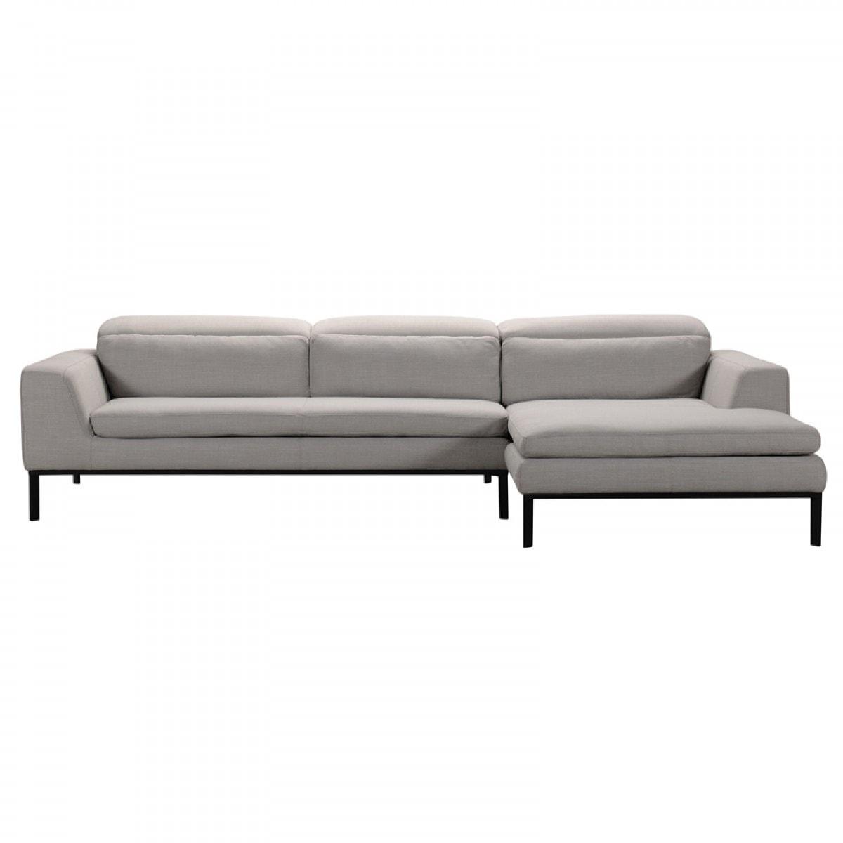 Shop Divani Casa Clayton Modern Fabric Sectional Sofa - On Sale ...