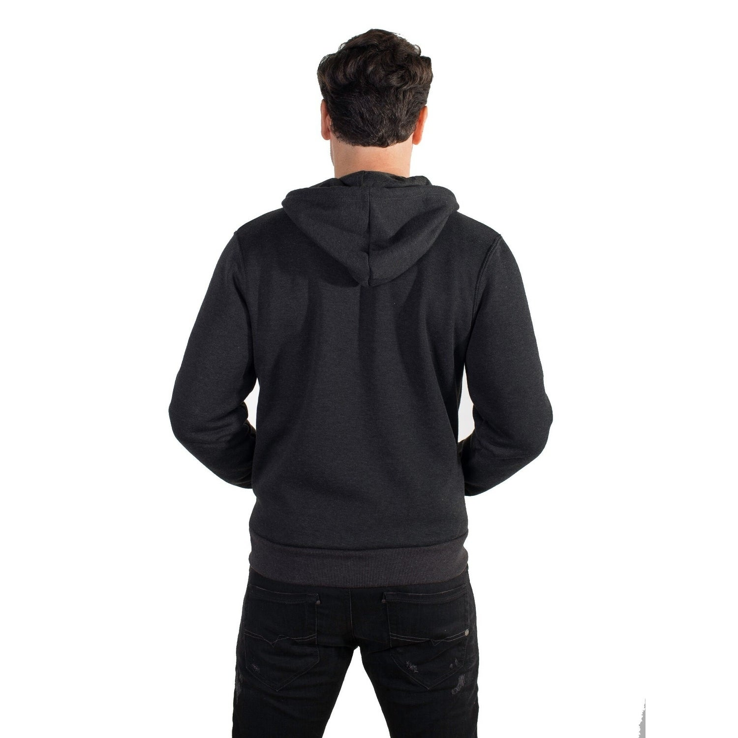 111d7ee6c4a2 Shop Men s Fleece Knit Hoodie with Zippered Front - Free Shipping On Orders  Over  45 - Overstock.com - 25493483