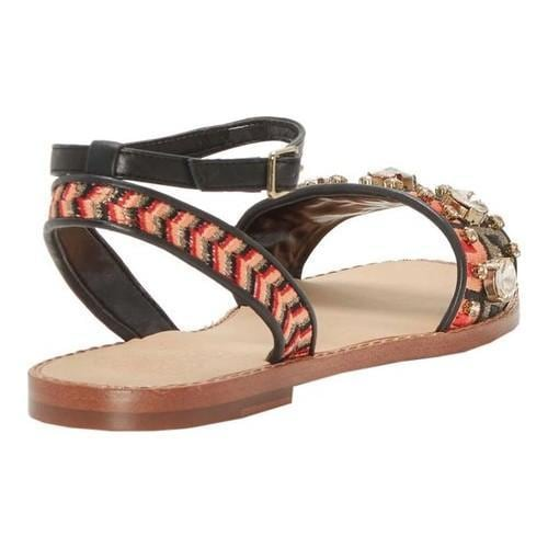 Clearance 2018 New Inexpensive Online Vince Camuto Akitta Ankle Strap Sandal(Women's) -Blue Multi Embroidered Fabric/Soft Silky PU Cheap Sale Authentic kAZQr