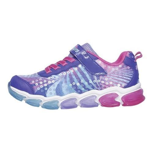 Girls' Skechers S Lights Jelly Beams Sneaker Purple/Multi