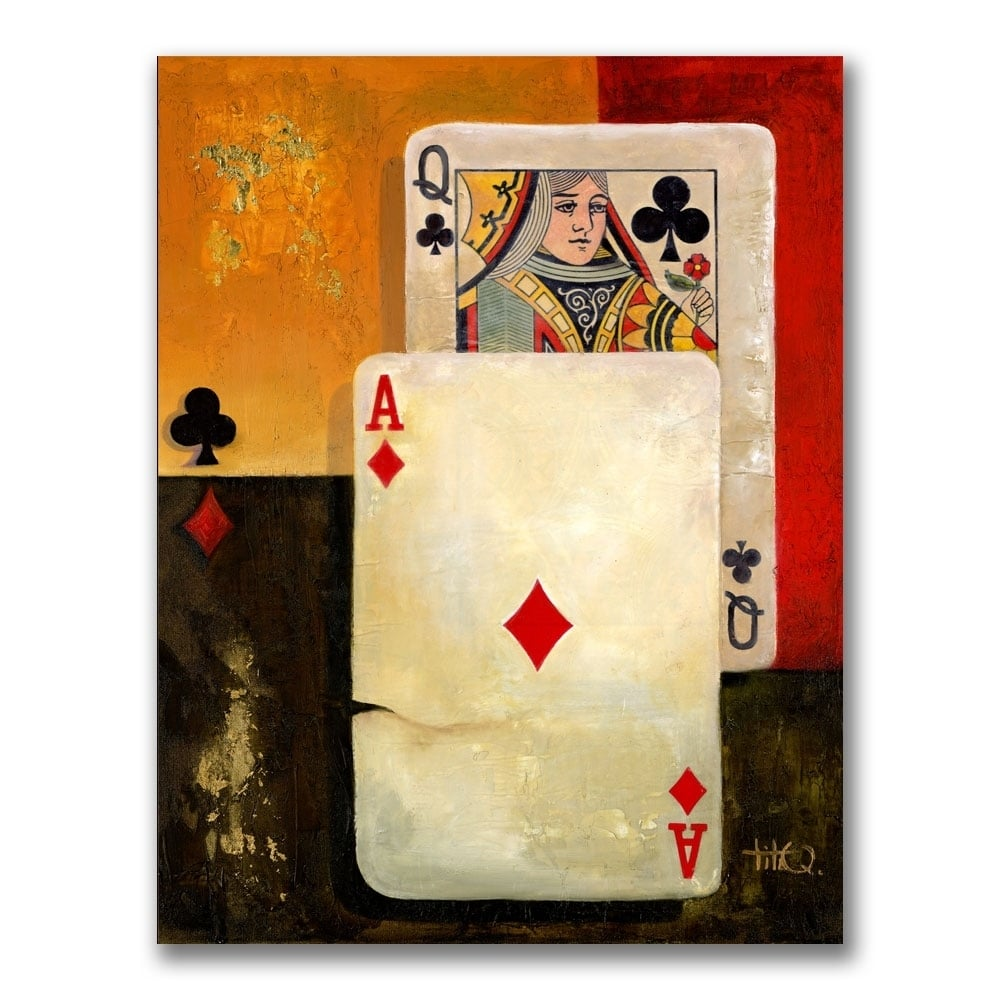 Poker Queen Extra Large Canvas Wall Art - Free Shipping Today ...