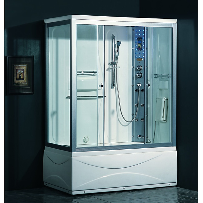 Ariel 905 Steam Shower With Whirlpool Tub   Free Shipping Today   Overstock    10764738