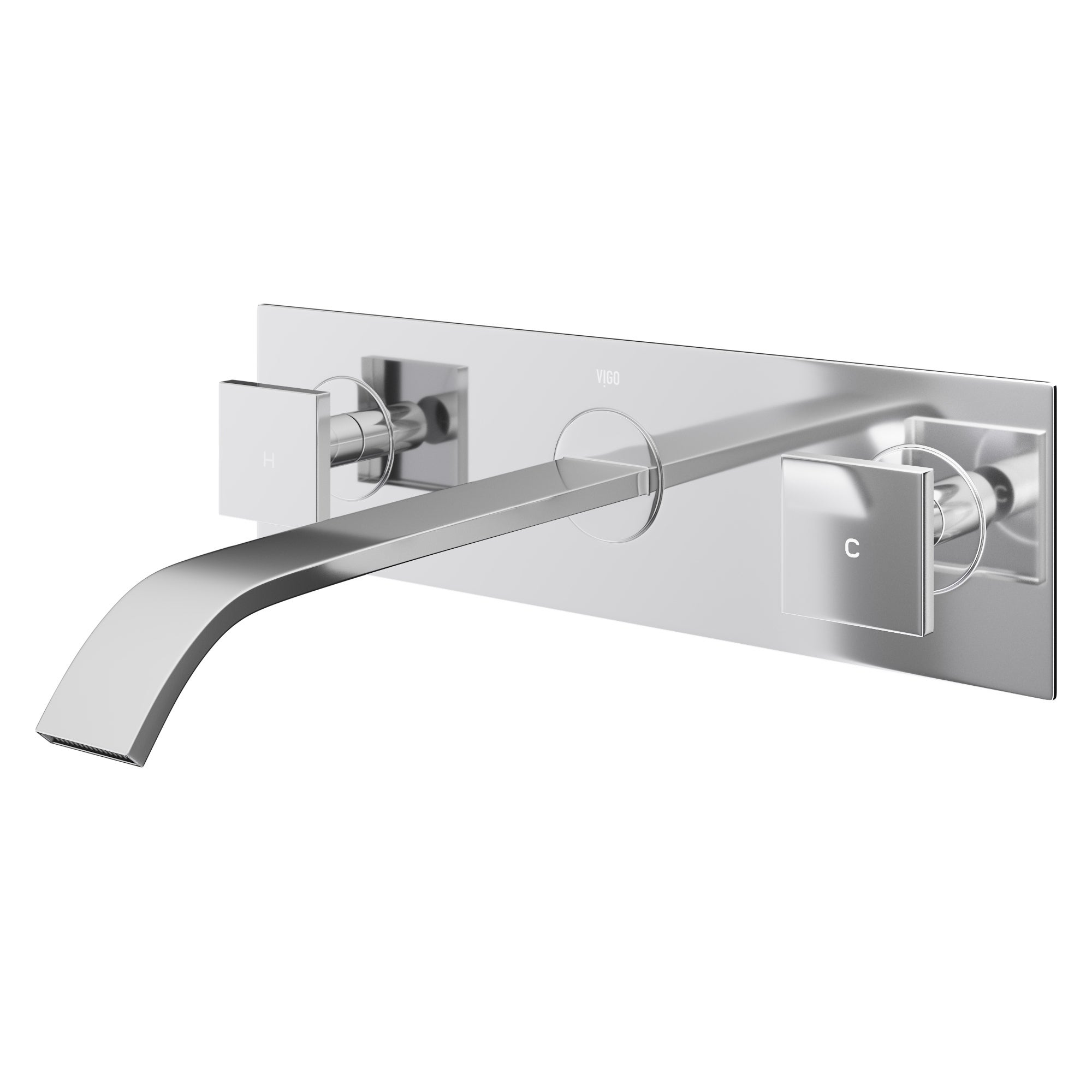 Shop VIGO Titus Wall Mount Bathroom Faucet in Chrome - On Sale ...