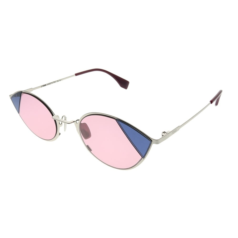 6bd86601439bb Fendi Cat-Eye FF 0342 S Cut-Eye AVB U1 Women Silver Pink Frame Pink Lens  Sunglasses