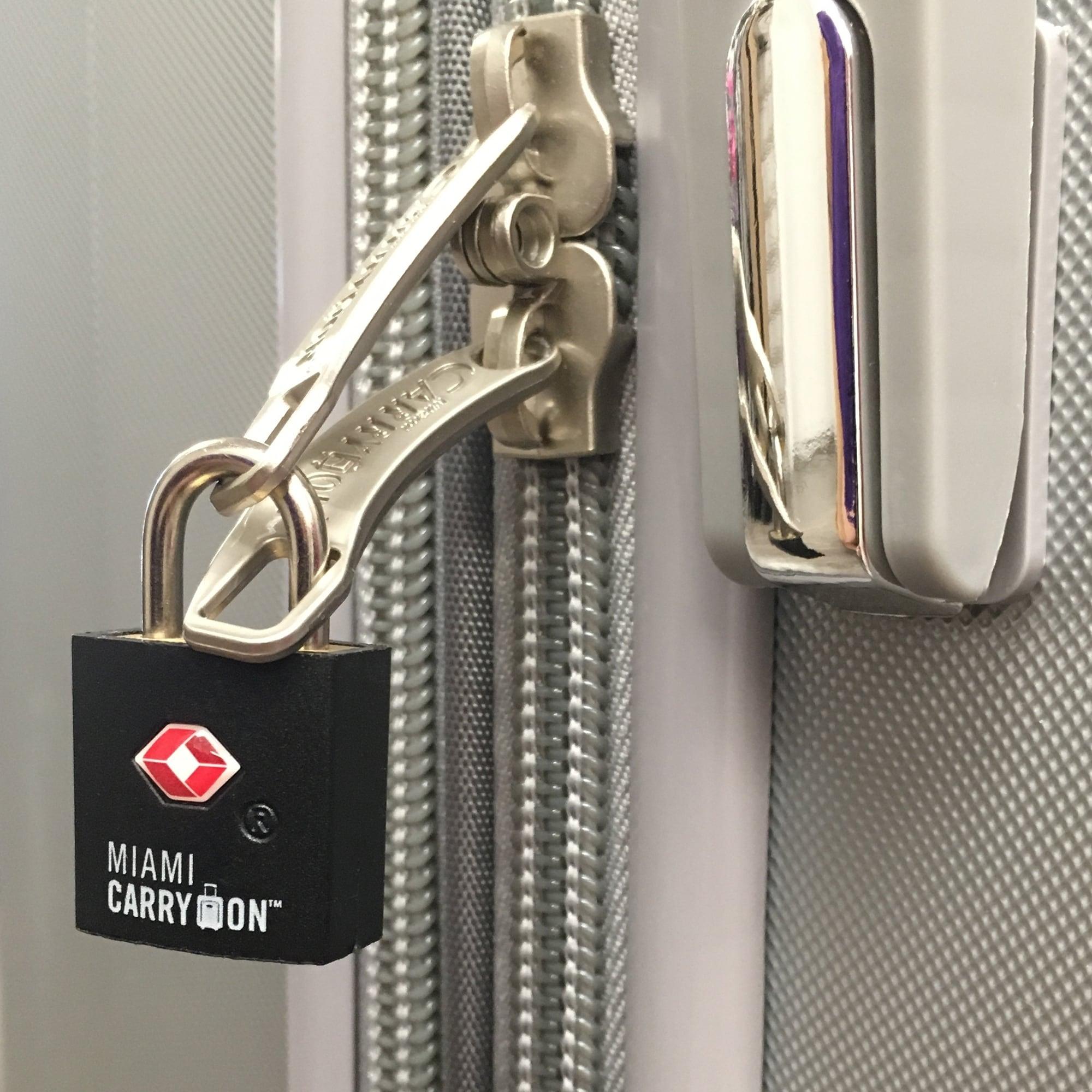 e30fac0c4f4f Miami CarryOn TSA Approved Padlock - Keyed Luggage Lock - 2 Pack