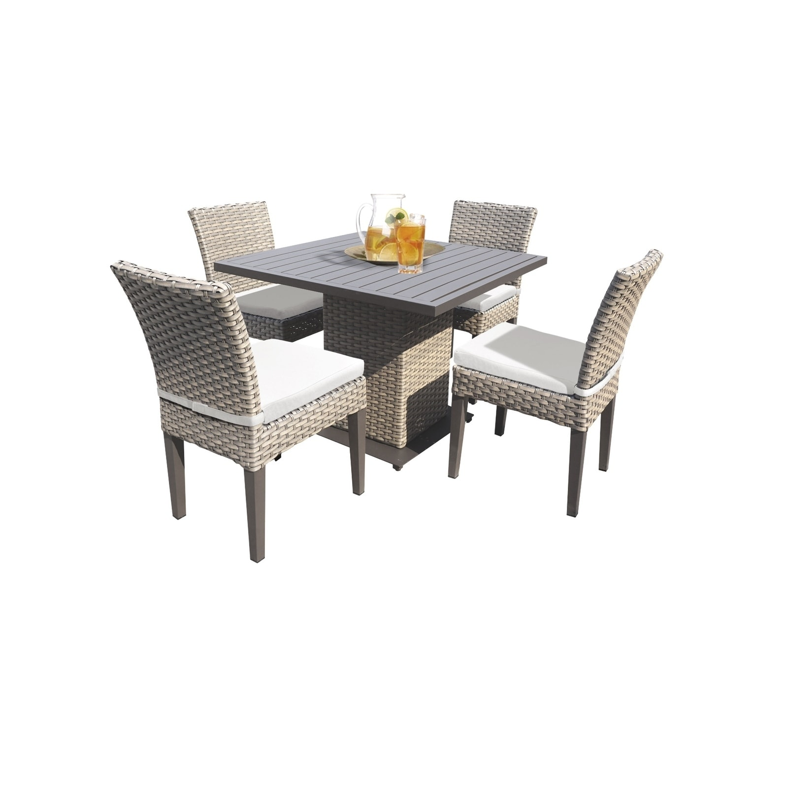shop florence square dining table with 4 chairs free shipping rh overstock com