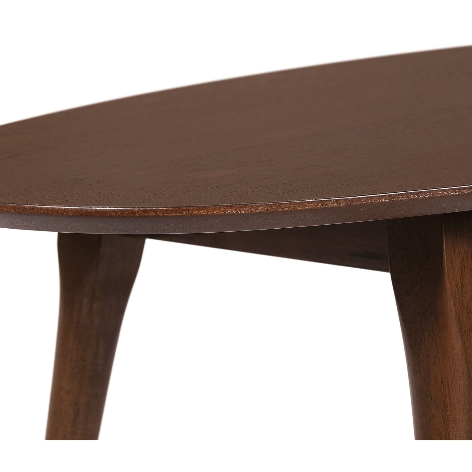 Elle Decor Clemintine Mid Century Oval Coffee Table With Br Accents Free Shipping Today 25559708