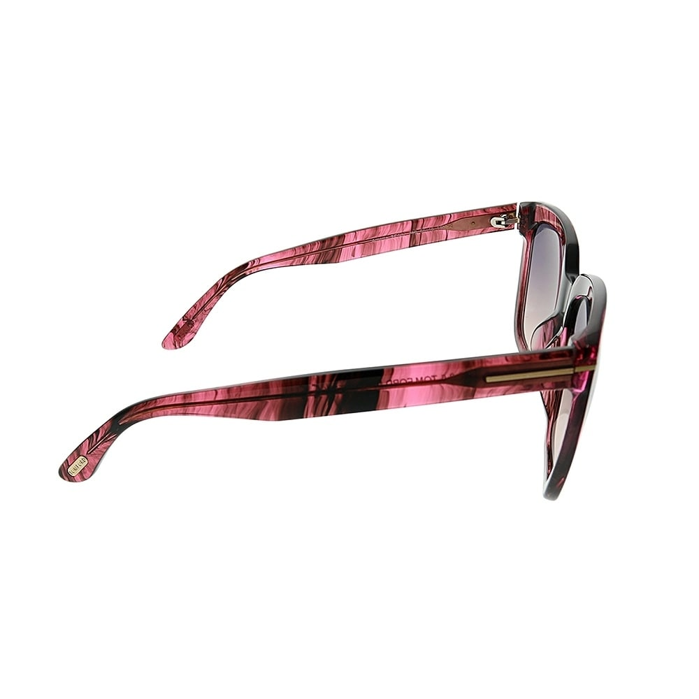 d76ed198d23 Shop Tom Ford Square TF 502 Amarra 74B Women Pink Striated Frame Grey  Gradient Lens Sunglasses - Free Shipping Today - Overstock - 25567536