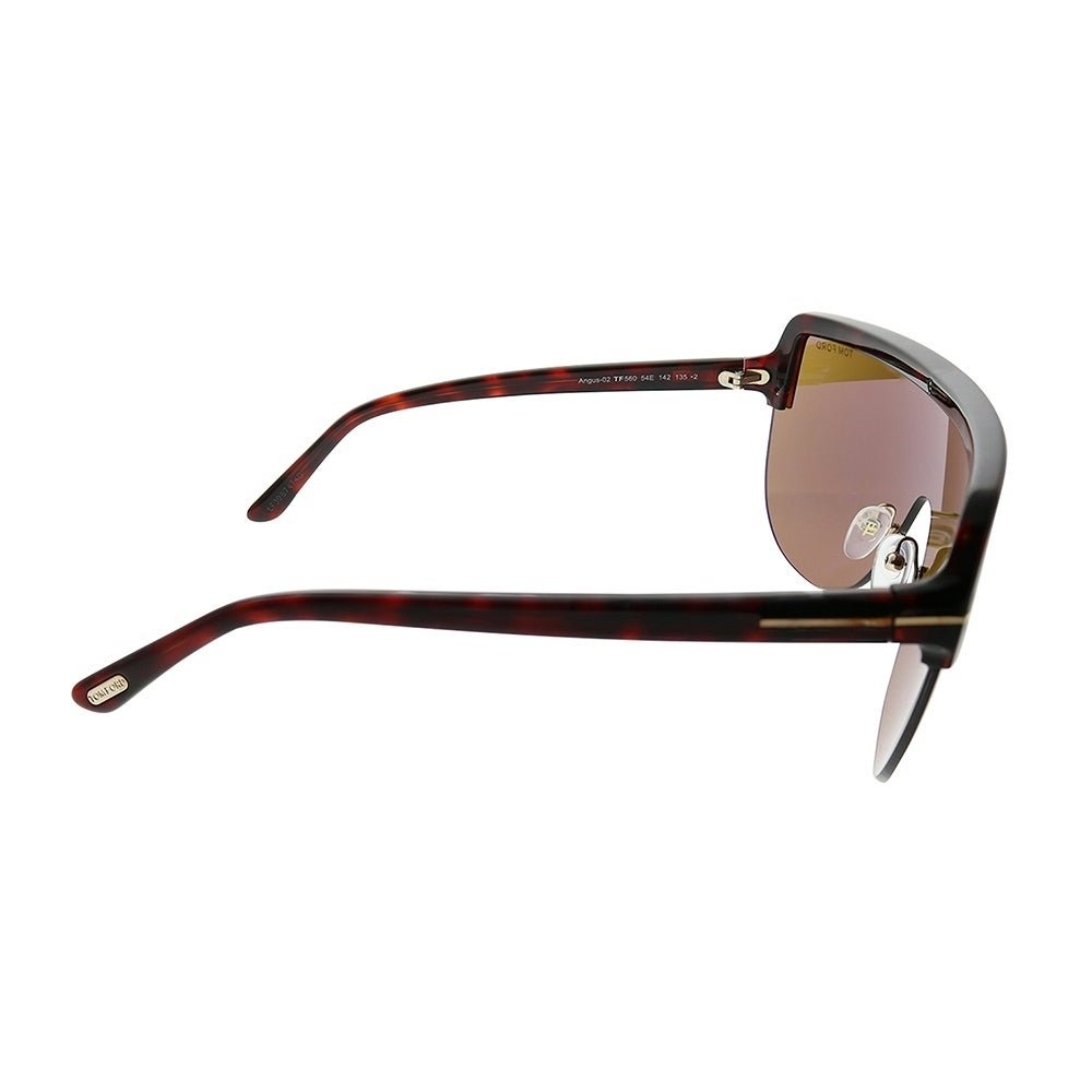 616e5c1ef2dc1 Shop Tom Ford Shield TF 560 Angus 54E Unisex Red Havana Frame Brown Lens  Sunglasses - Free Shipping Today - Overstock - 25567548