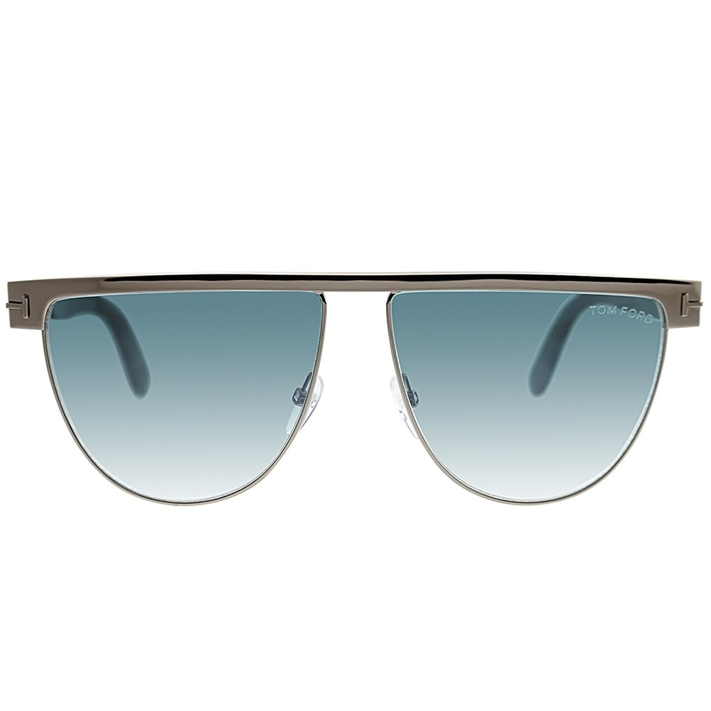 8e3654844b4 Shop Tom Ford Rectangle TF 570 Stephanie 14X Women Gunmetal Frame Blue  Gradient Lens Sunglasses - Free Shipping Today - Overstock - 25567551